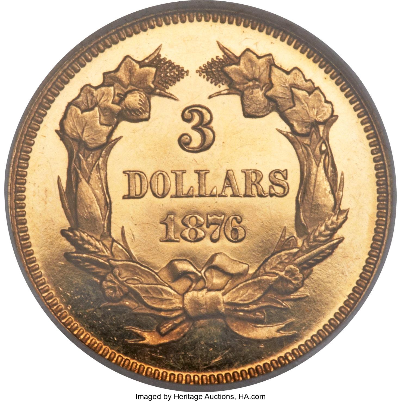 sample image for 1876 $3  PR CAM