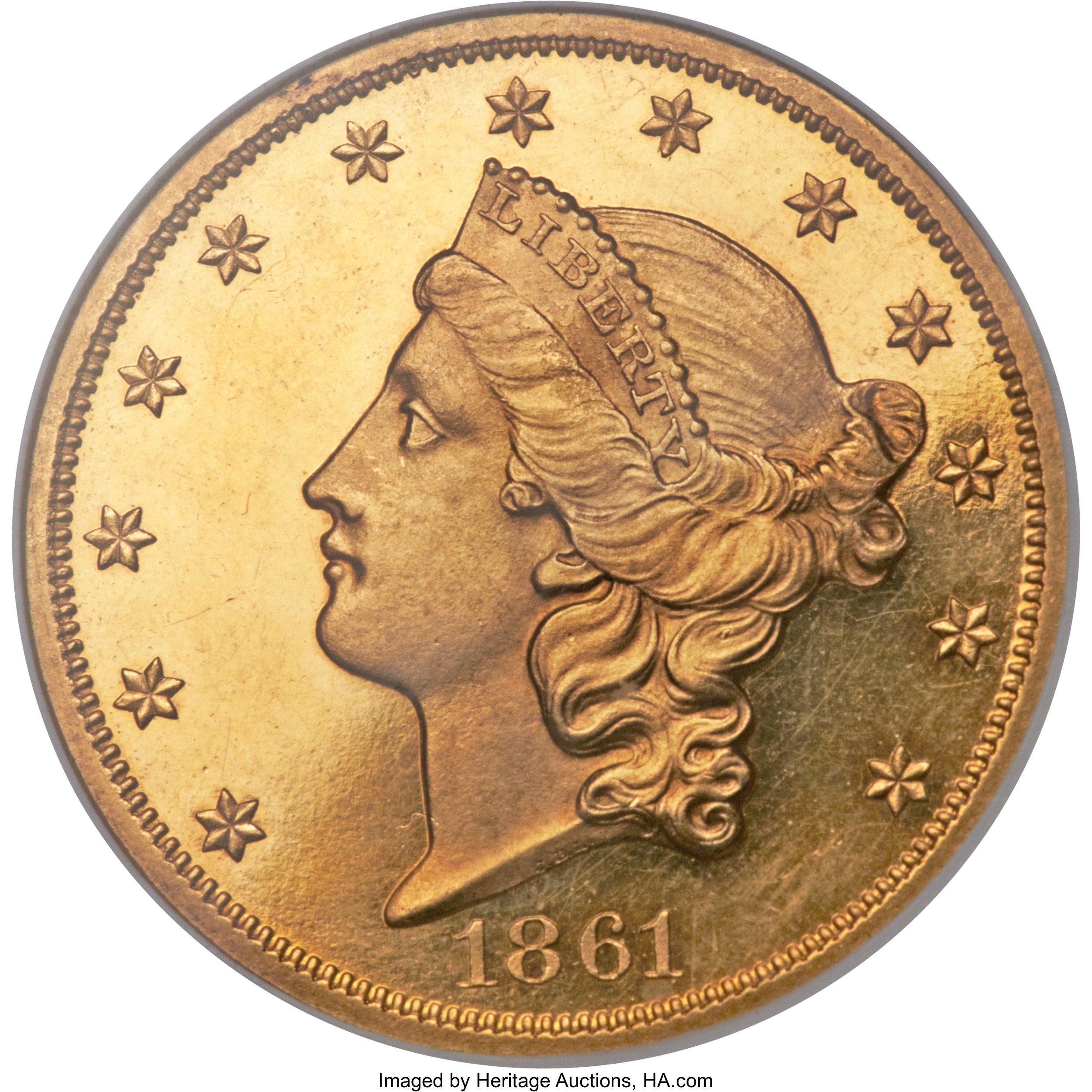 sample image for 1861 $20  PR CAM