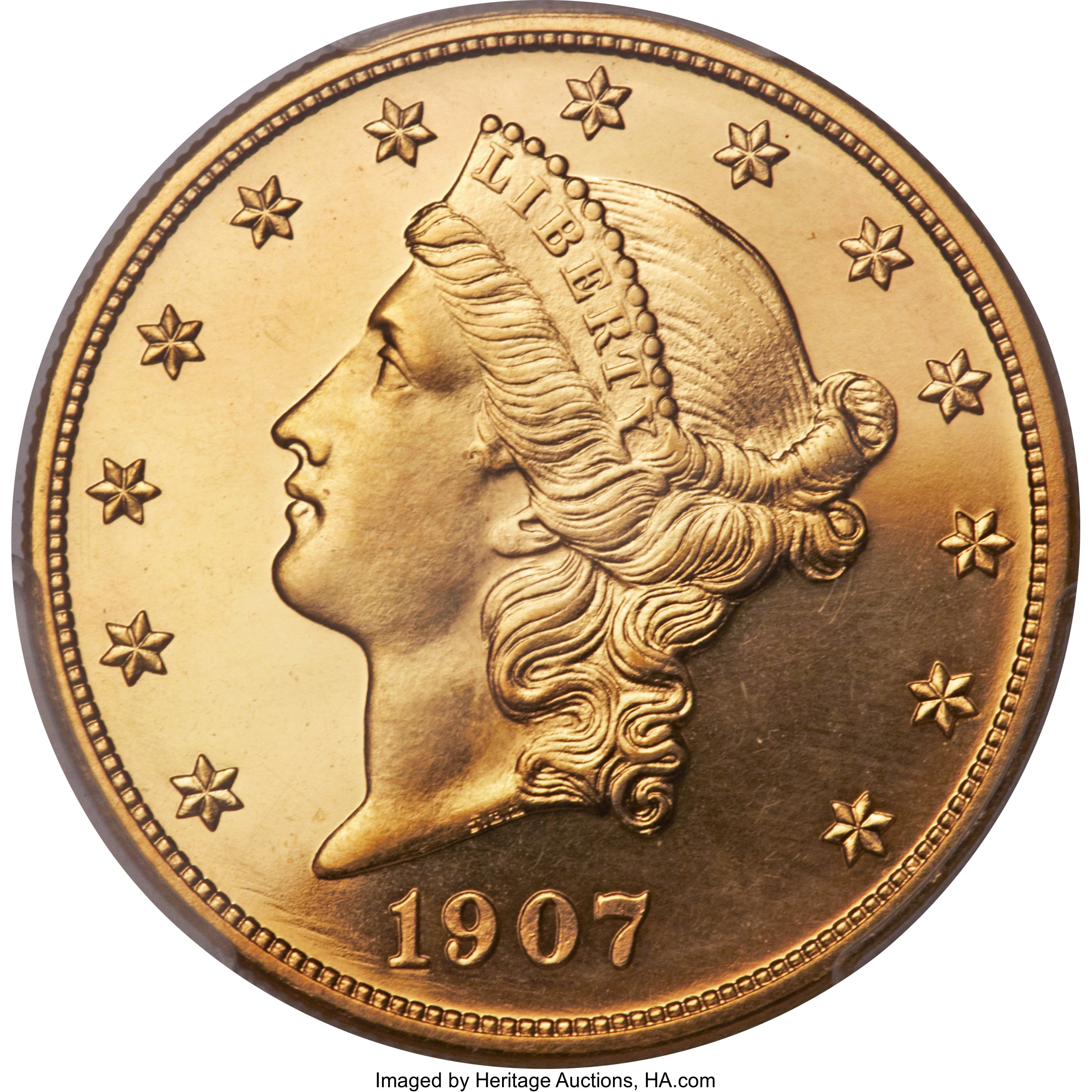 sample image for 1907 Liberty $20  PR CAM