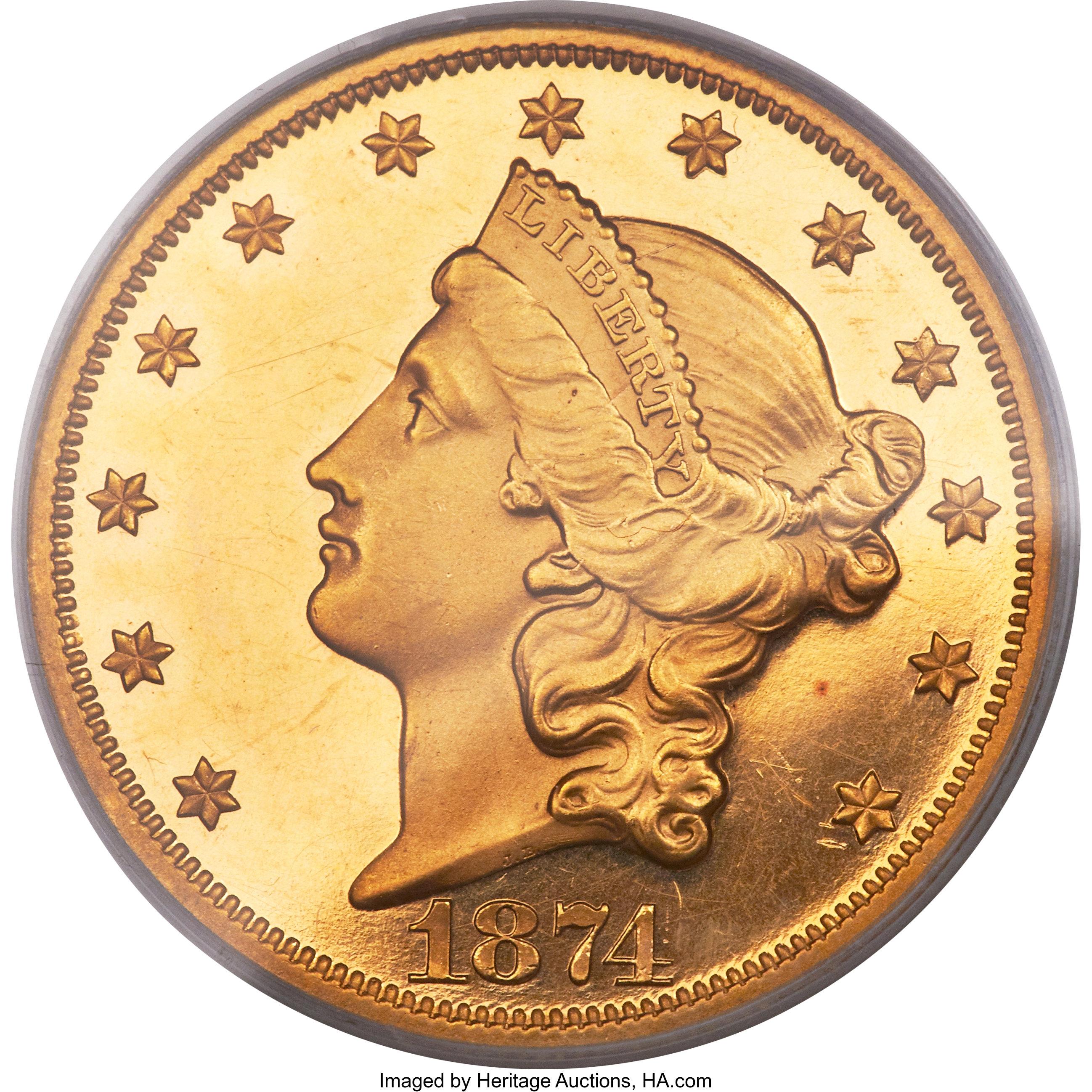 sample image for 1874 $20  PR DCAM