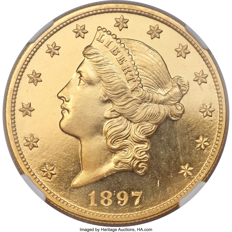 sample image for 1897 $20  PR DCAM