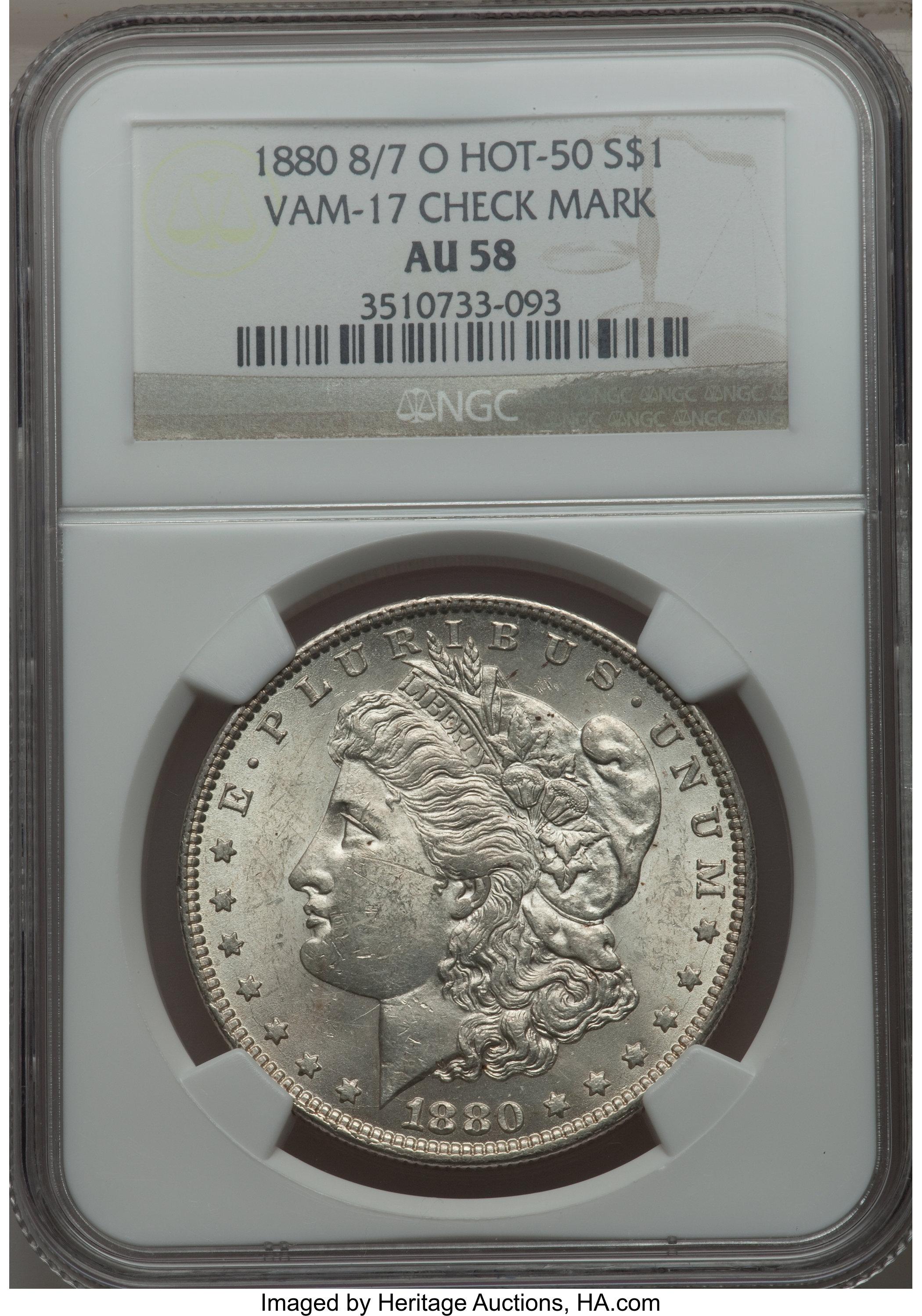sample image for 1880-O $1  MS VAM-17, Checkmark
