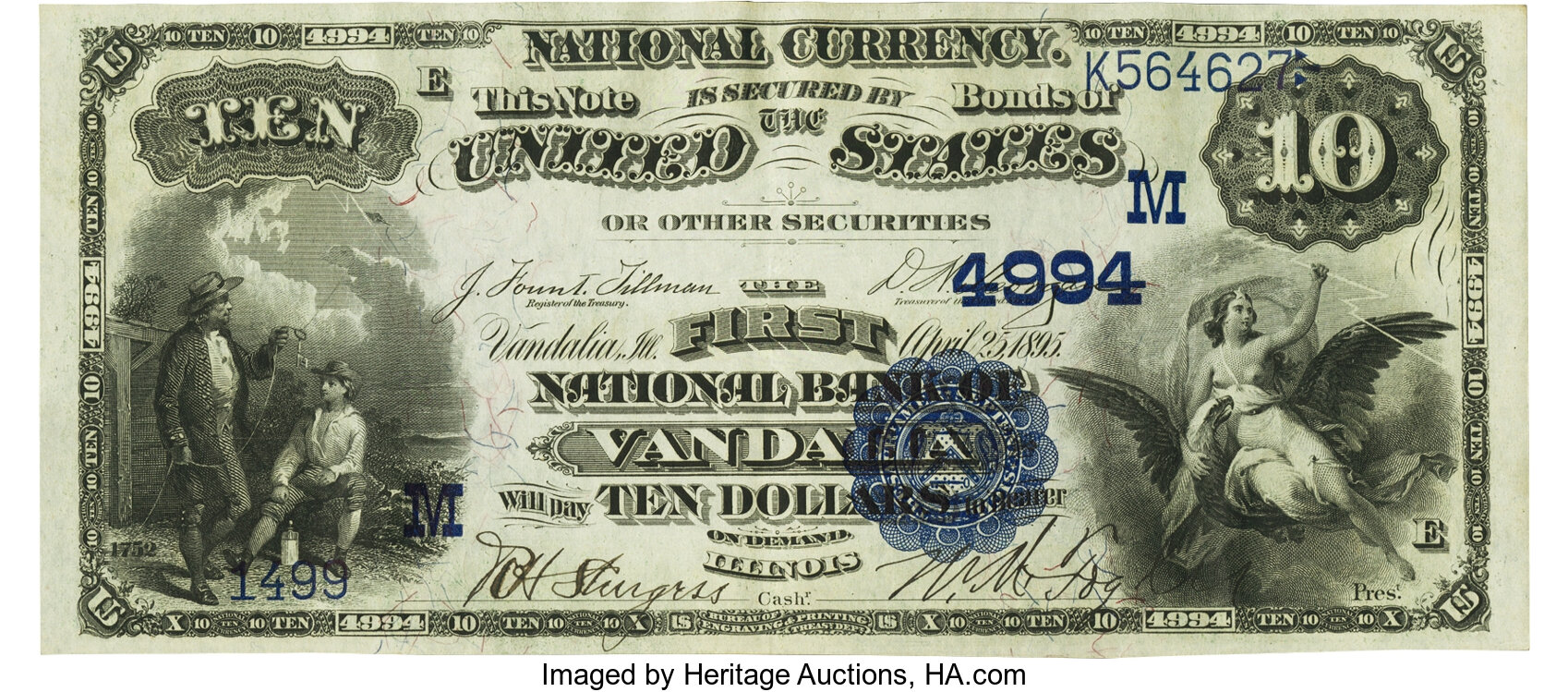 sample image for 1882 2nd Charter Period $10  Date Back 2nd Issue (Fr.# 542)