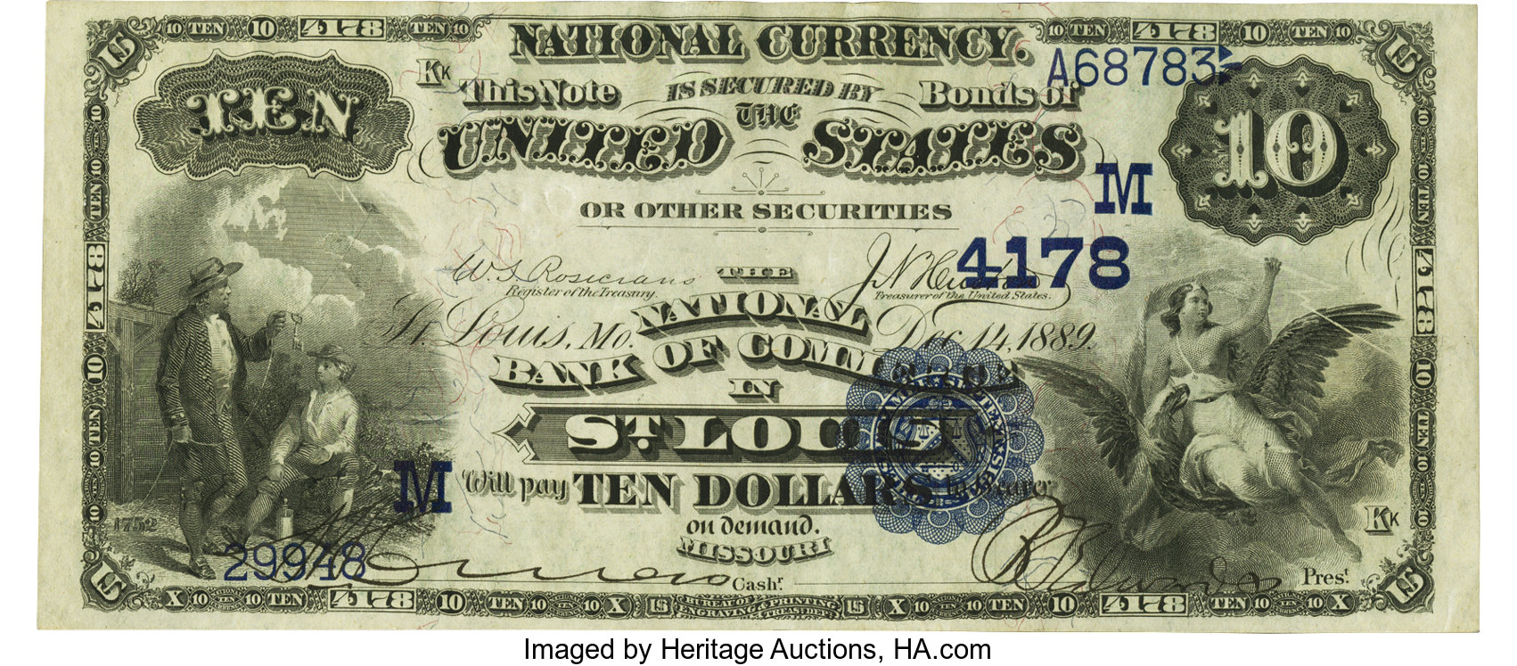 sample image for 1882 2nd Charter Period $10  Date Back 2nd Issue (Fr.# 539548TYPE) [Type]