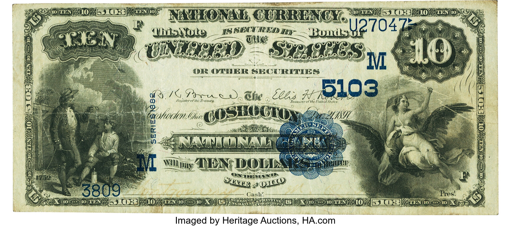 sample image for 1882 2nd Charter Period $10  Value Back 3rd Issue (Fr.# 576)