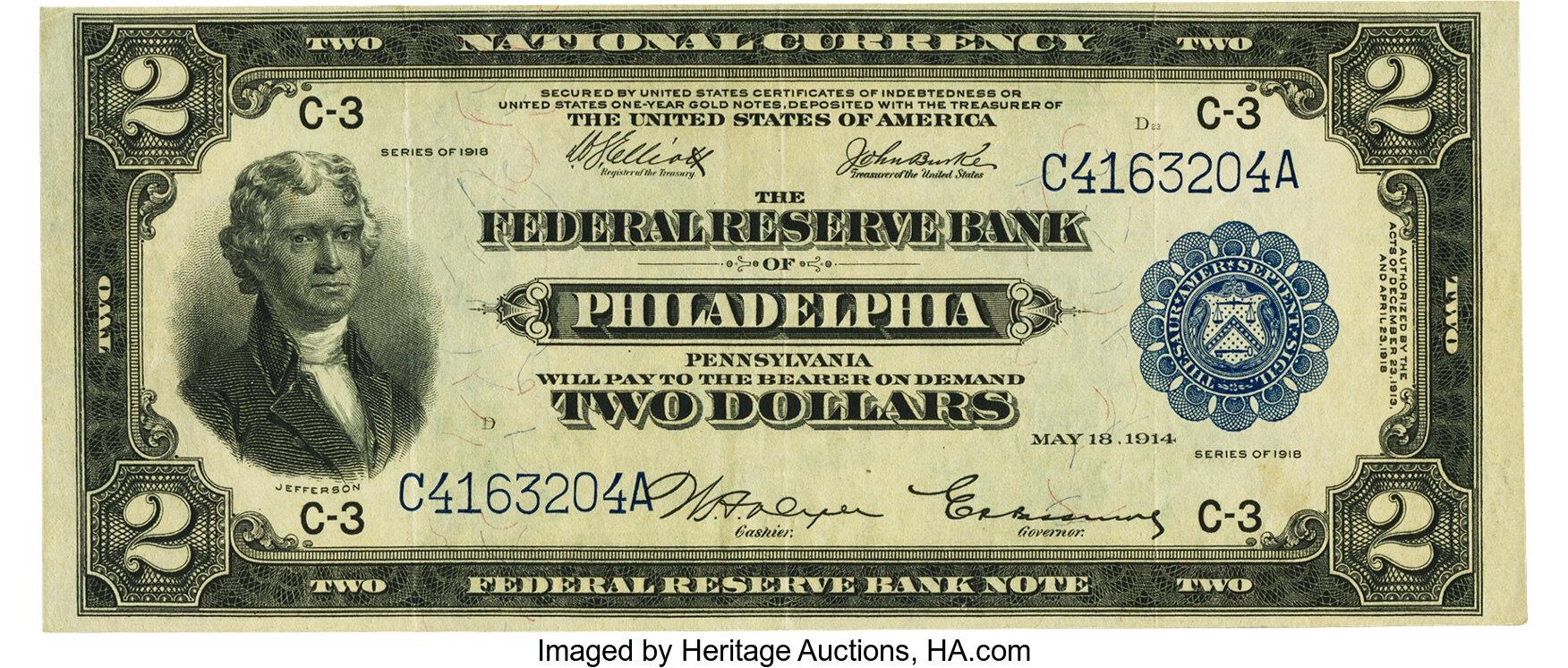 sample image for 1918 $2  Philadelphia (Fr.# 755)