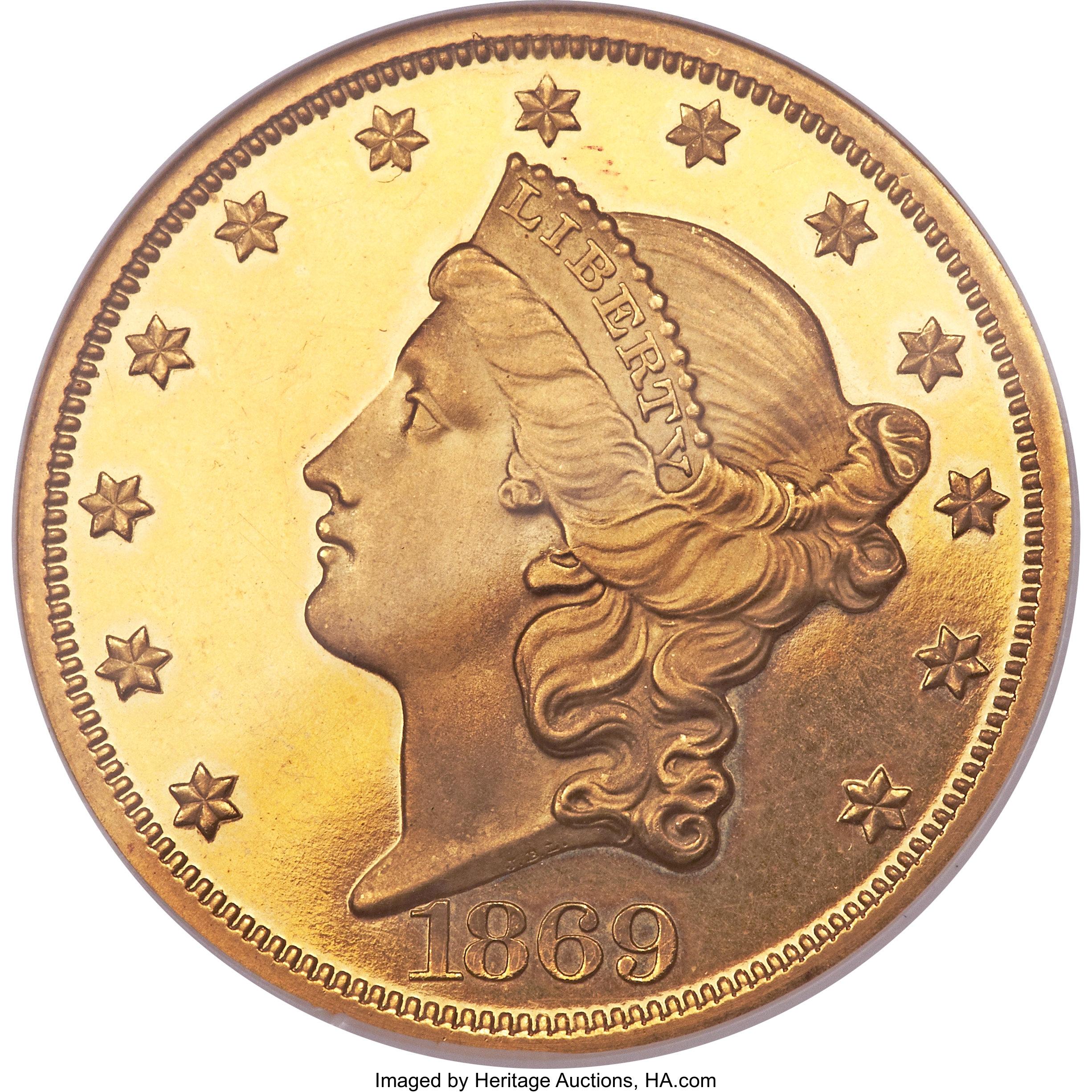 sample image for 1869 $20  PR DCAM
