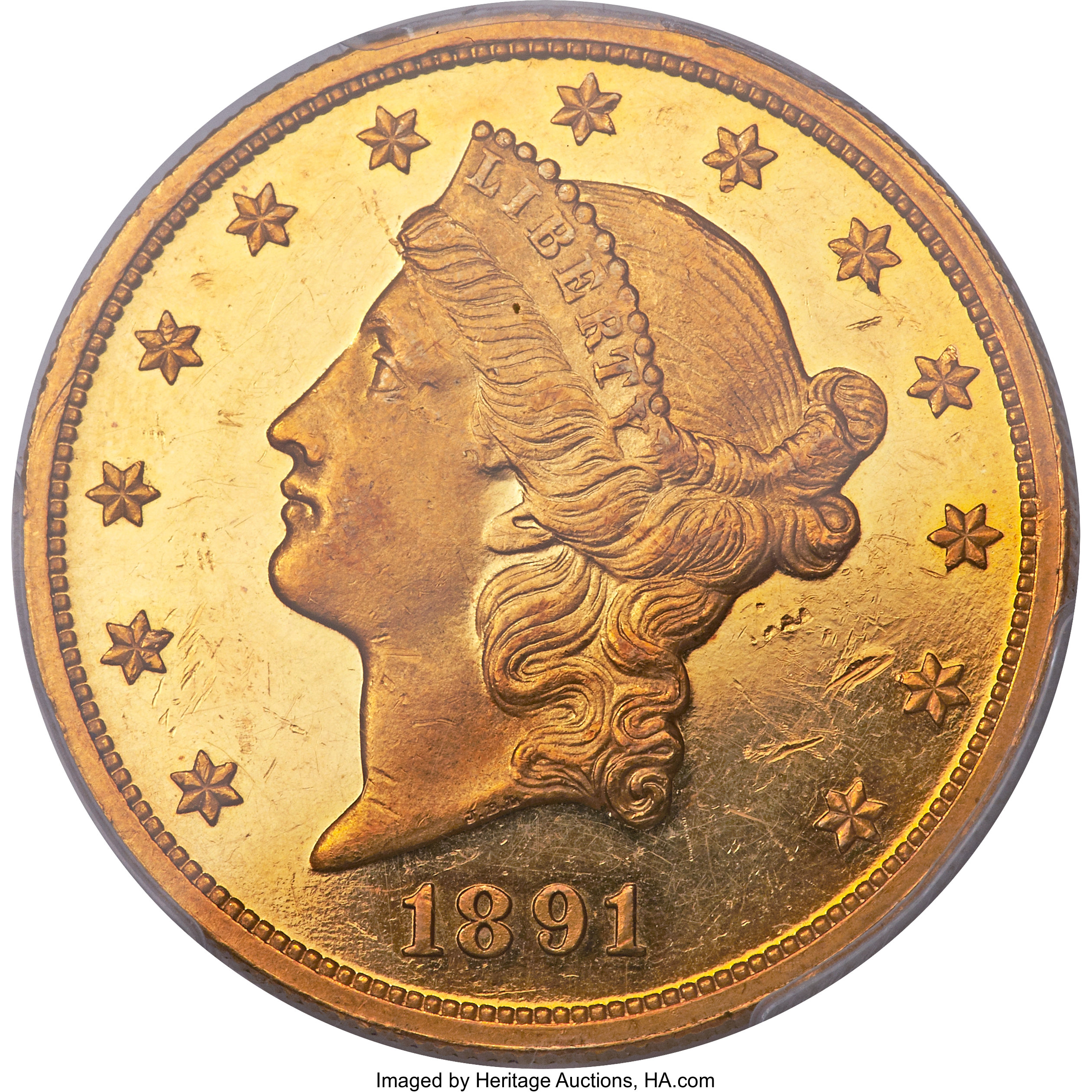sample image for 1891 $20  PR CAM