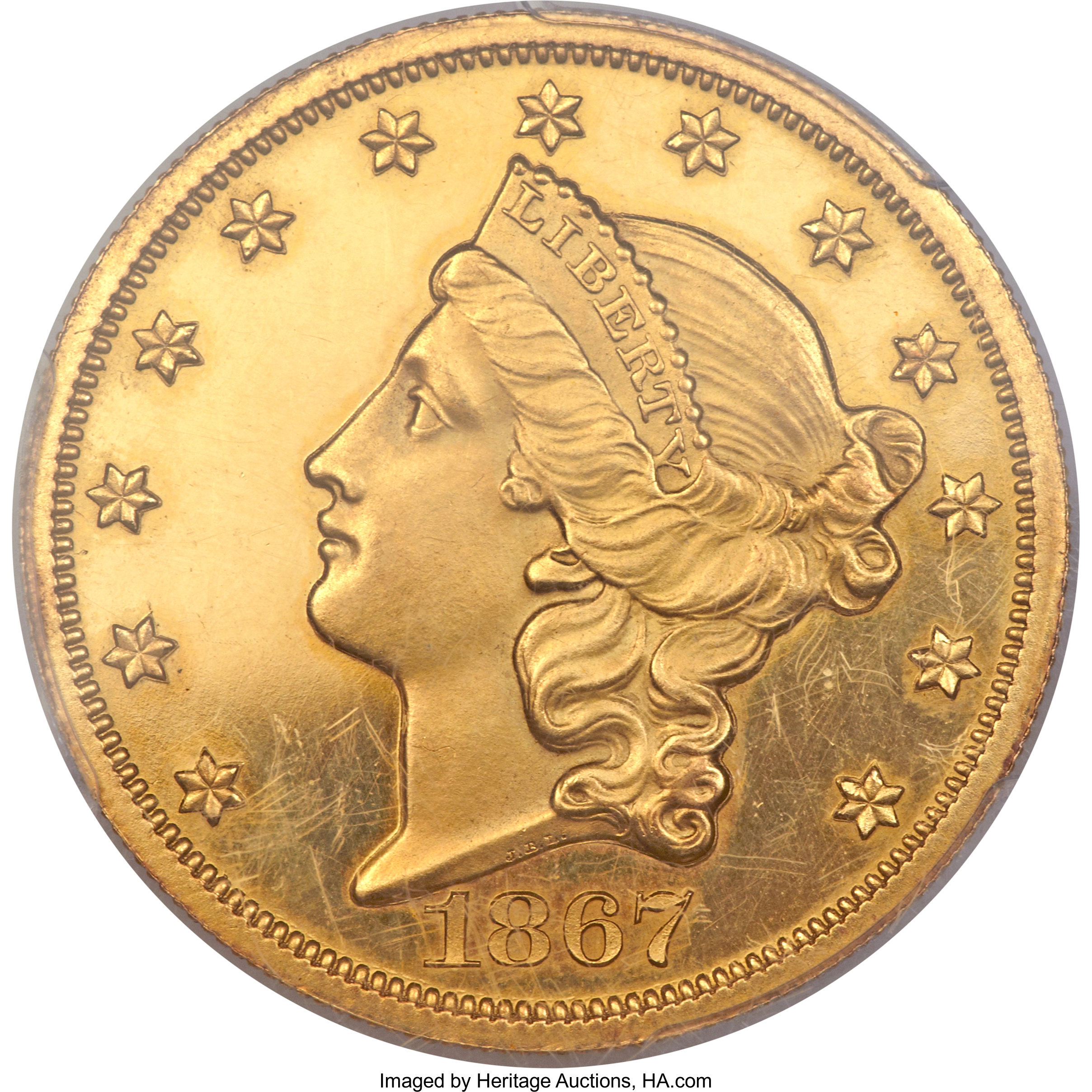 sample image for 1867 $20  PR DCAM
