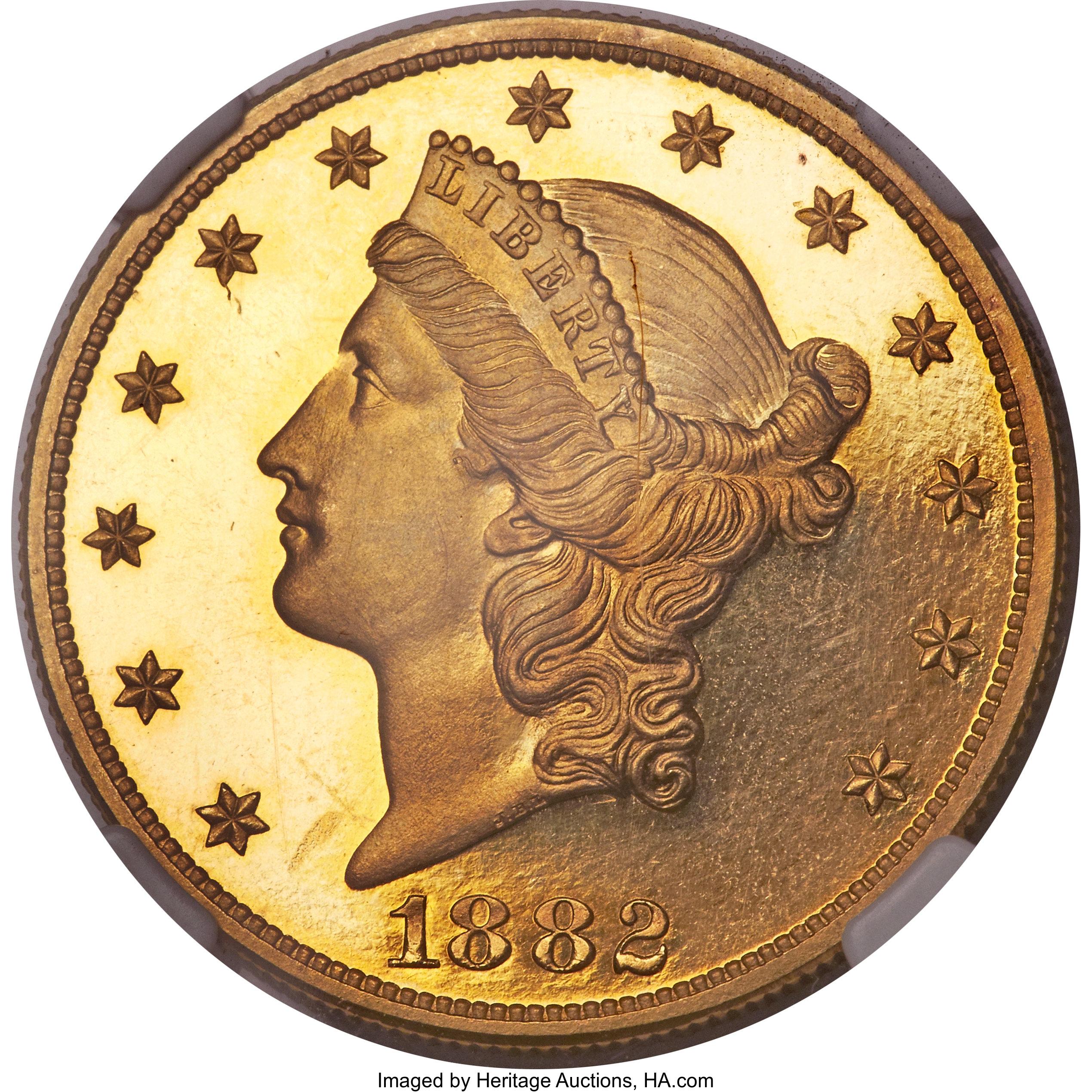 sample image for 1882 $20  PR DCAM