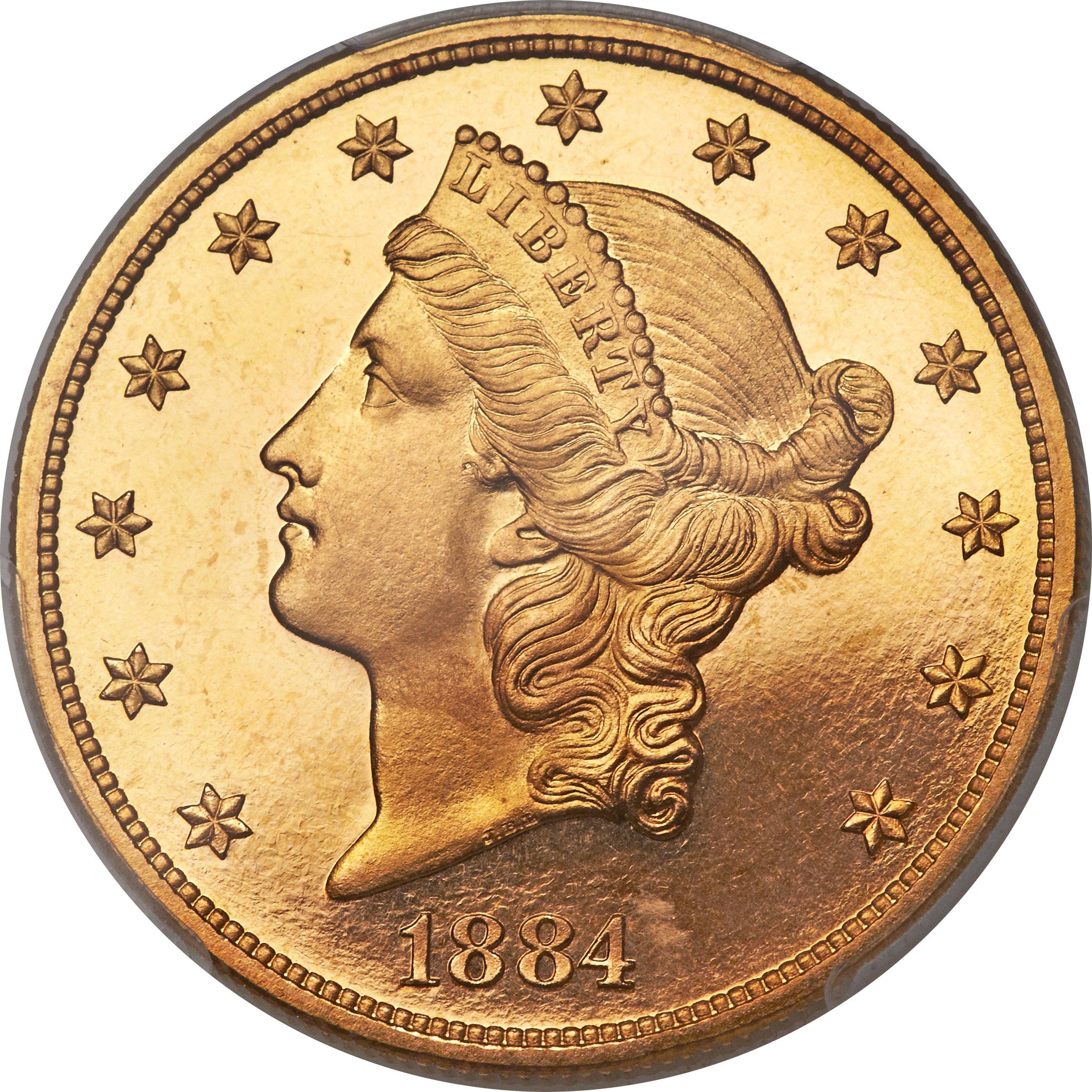 sample image for 1884 $20  PR DCAM