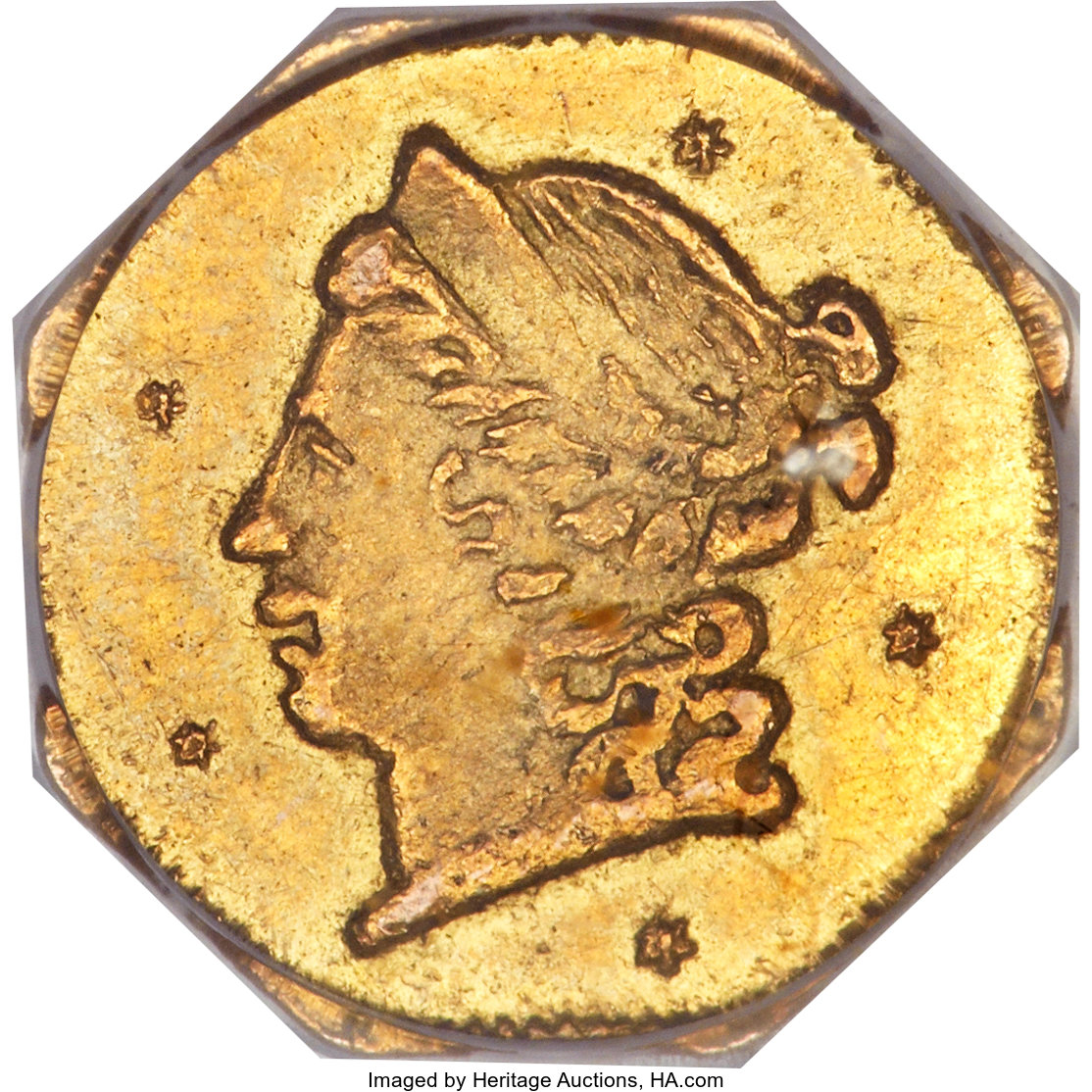 sample image for 1856 Cal. Gold 25c MS (BG-703A)