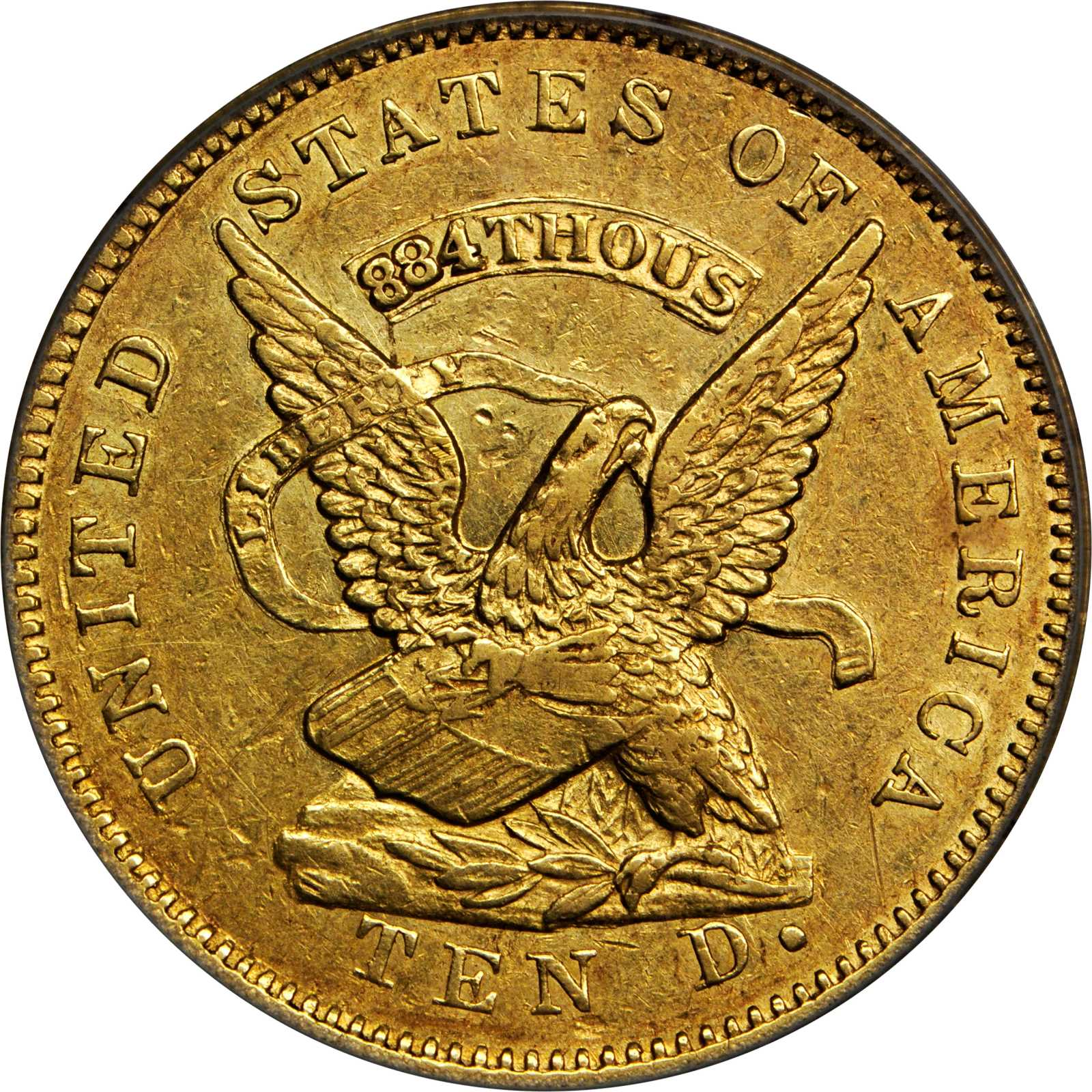 sample image for 1853 $10 Assay 884 THOUS