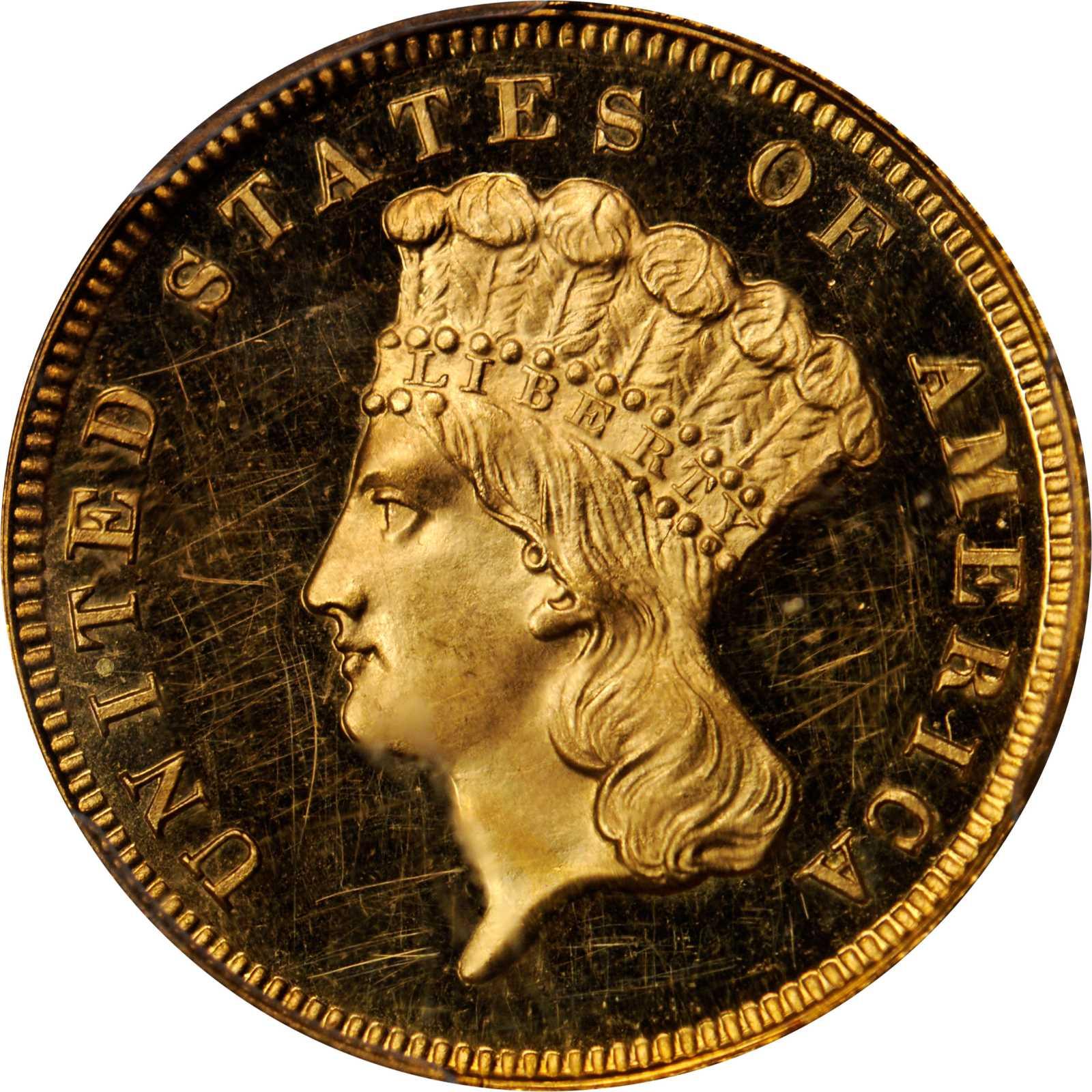 sample image for 1867 $3  PR DCAM