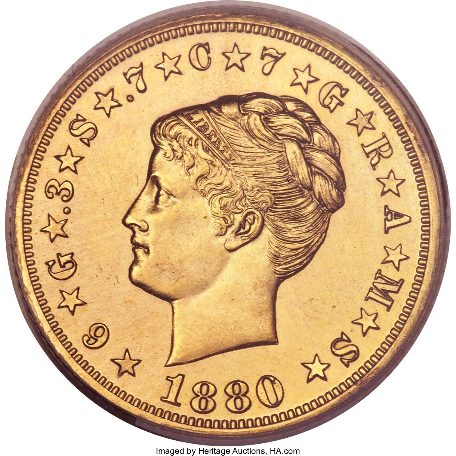 sample image for 1880 J-1661 Gilt P$4 PR