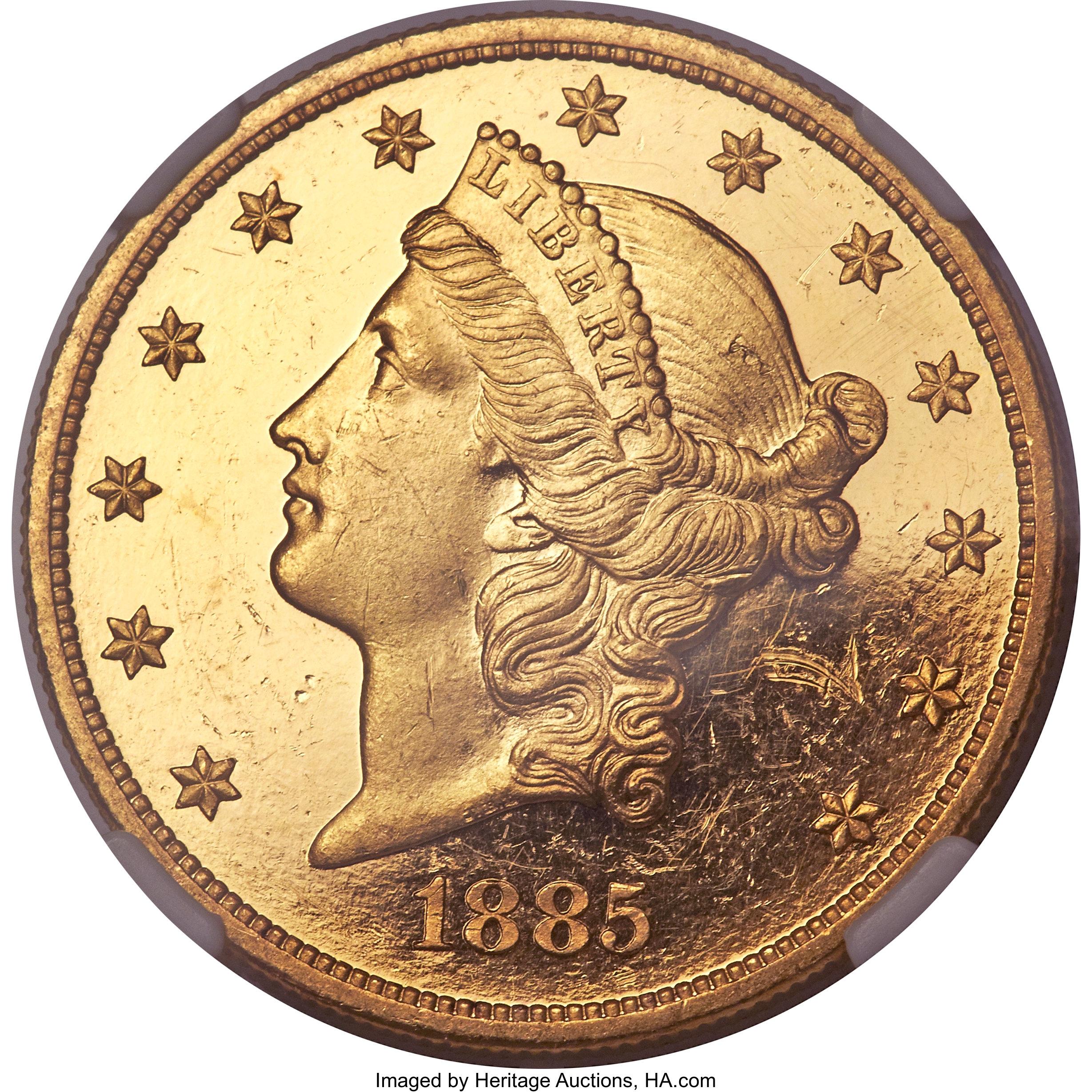 sample image for 1885 $20  PR DCAM