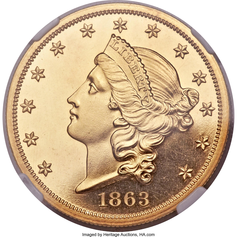 sample image for 1863 $20  PR CAM