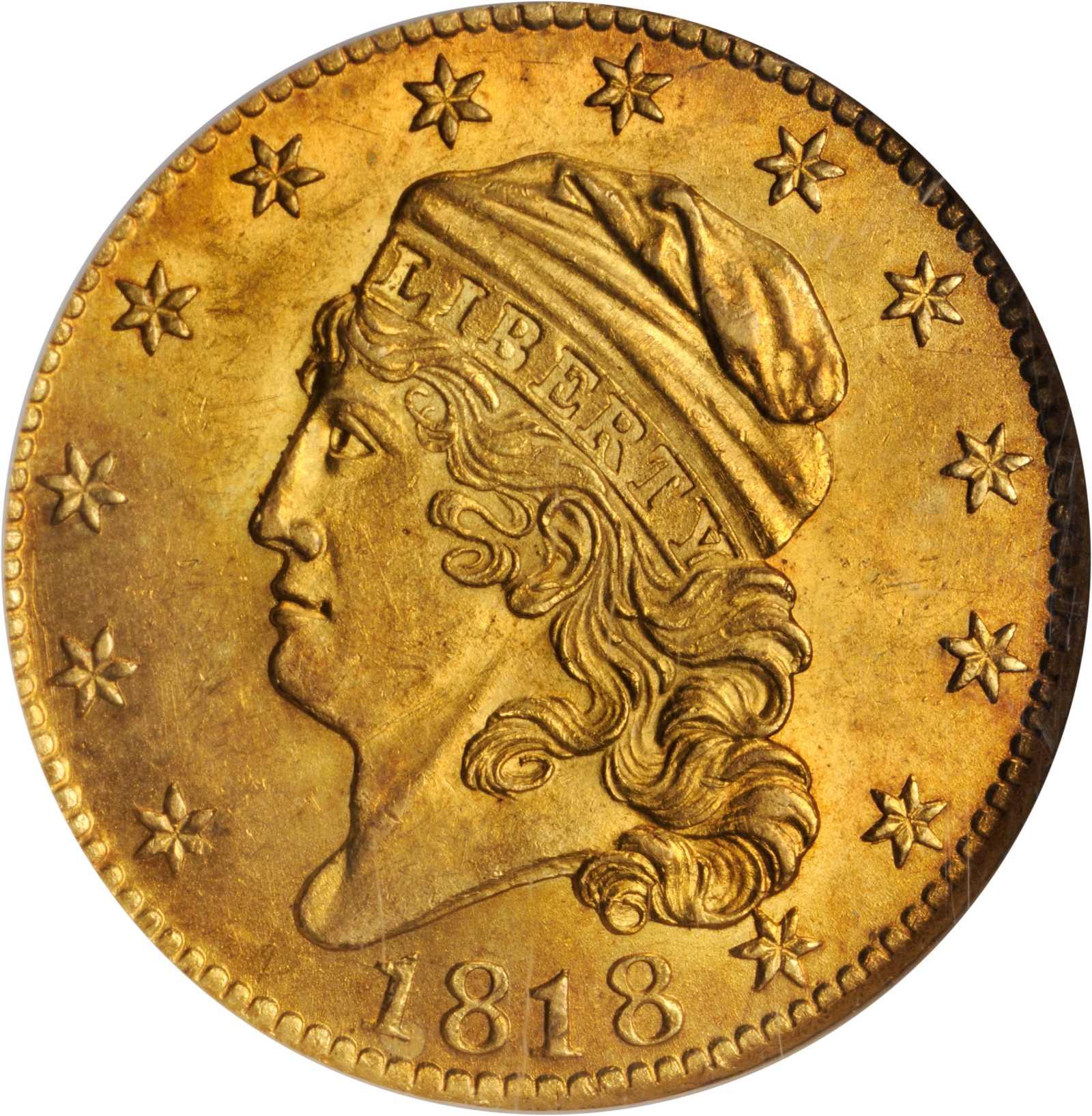 sample image for 1818 $5  MS 5I/50