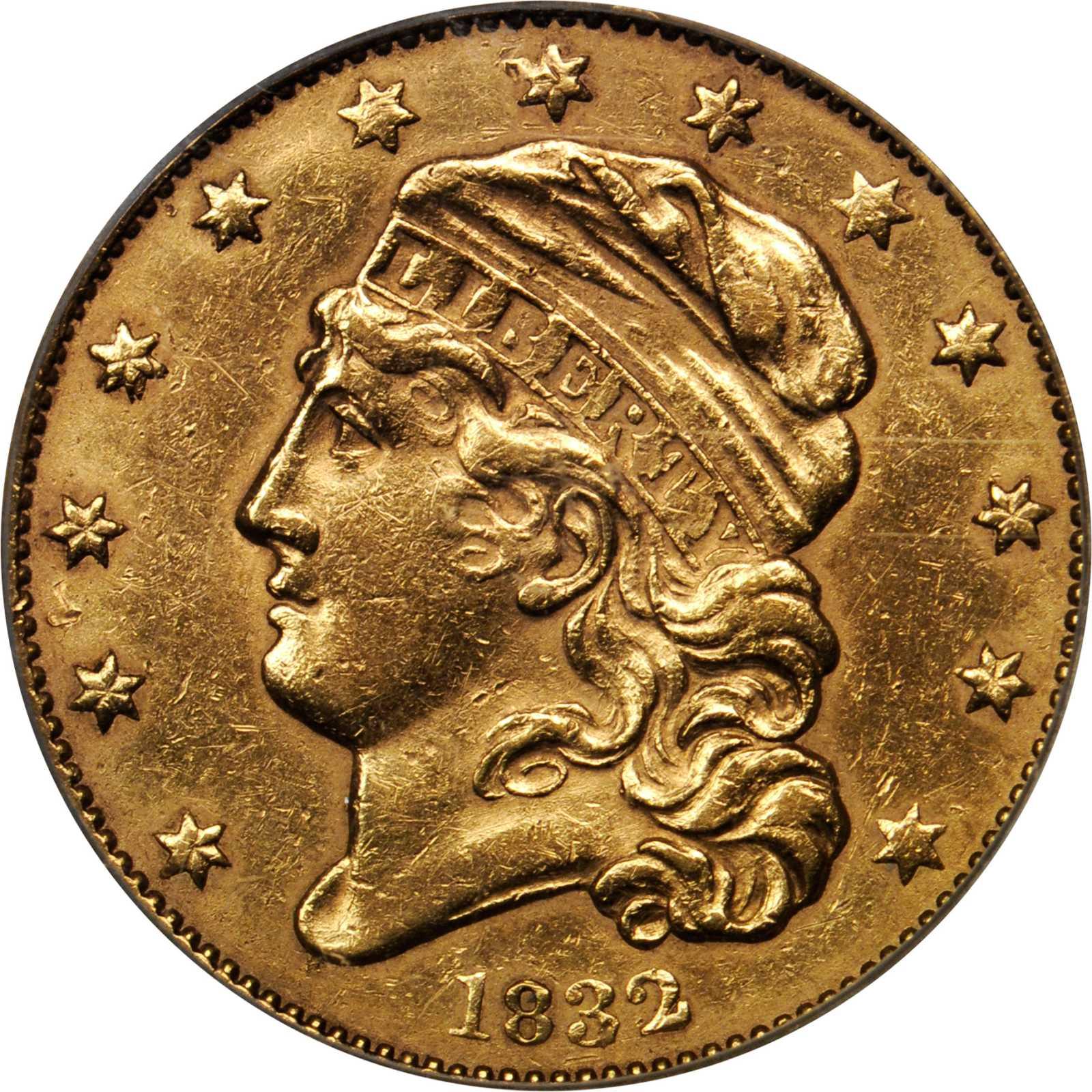 sample image for 1832 $5  MS 13 Stars