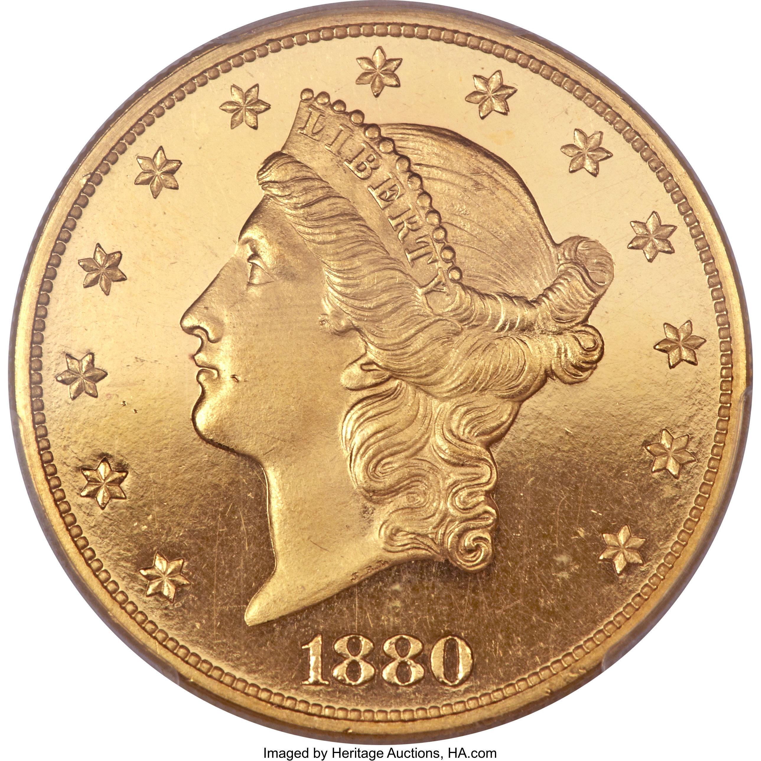 sample image for 1880 $20  PR DCAM