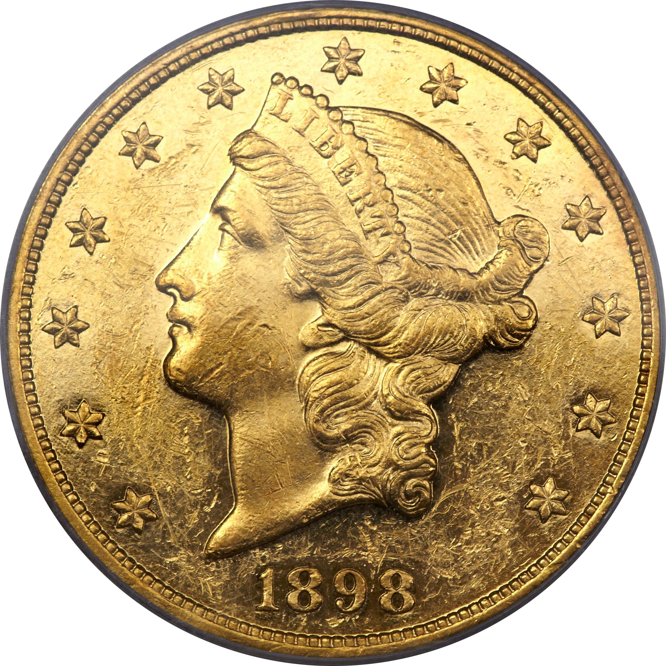 sample image for 1898 $20  PR