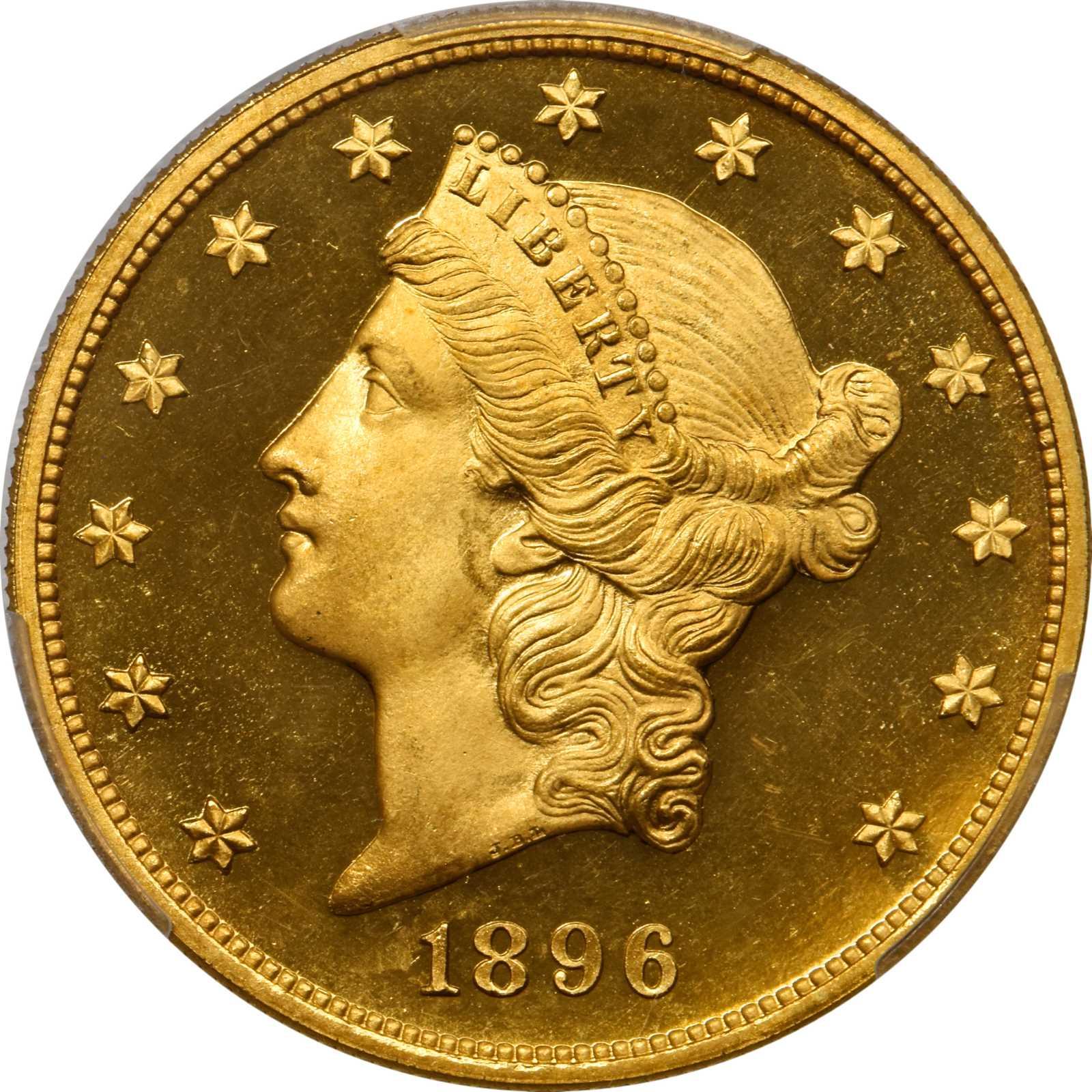 sample image for 1896 $20  PR DCAM