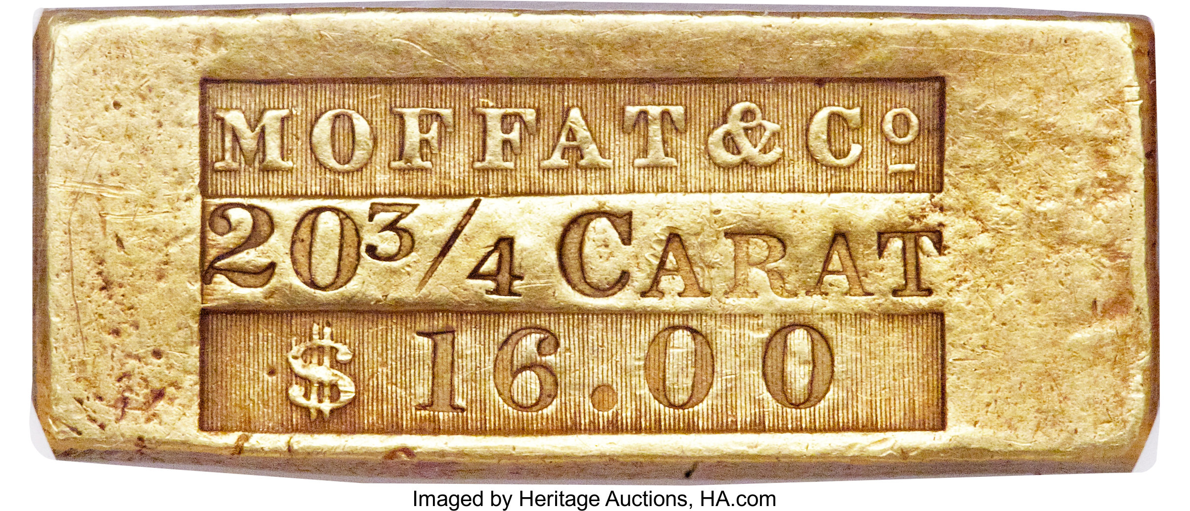 sample image for Moffat $16 Ingot (K-3)