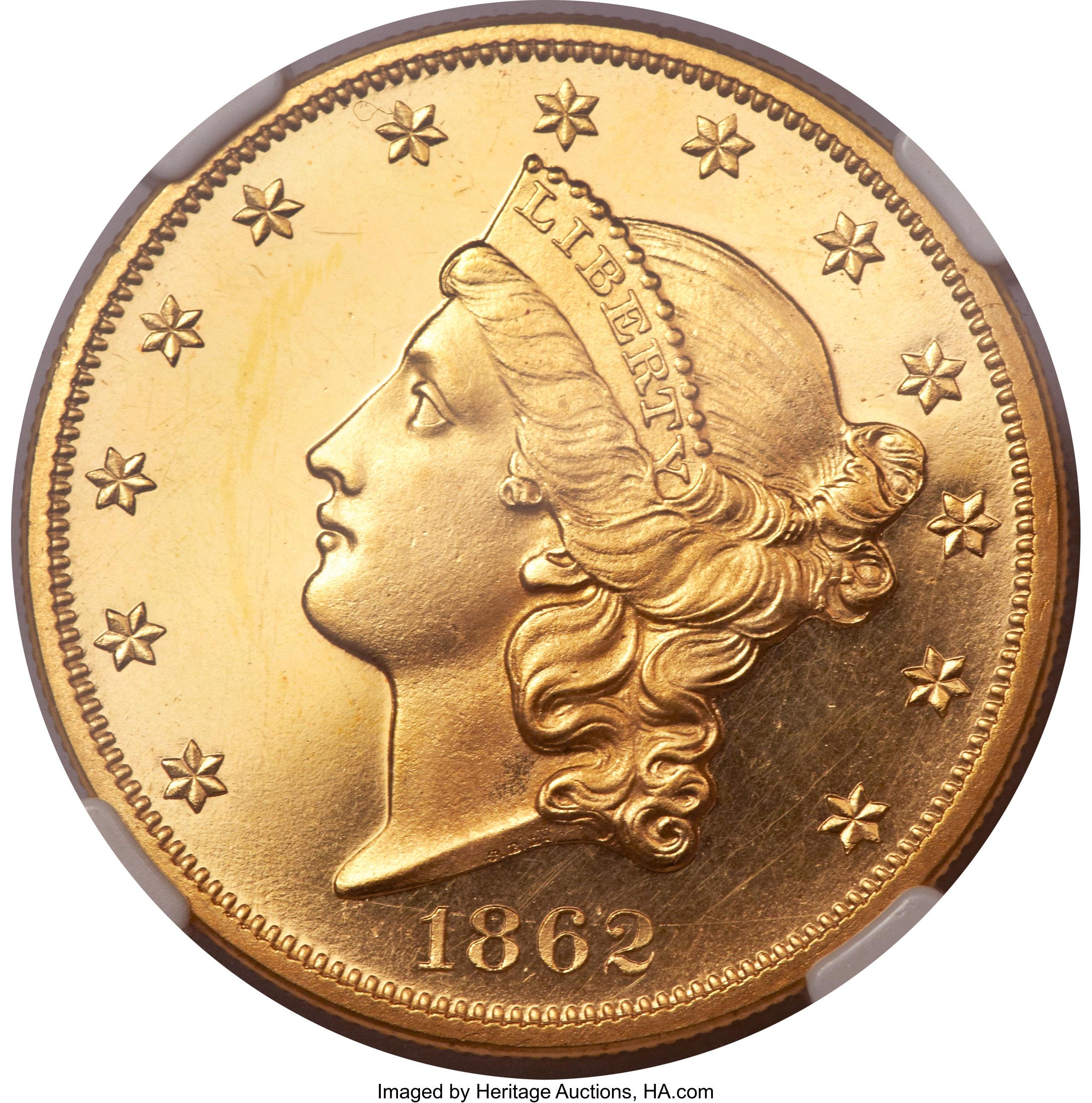 sample image for 1862 $20  PR CAM