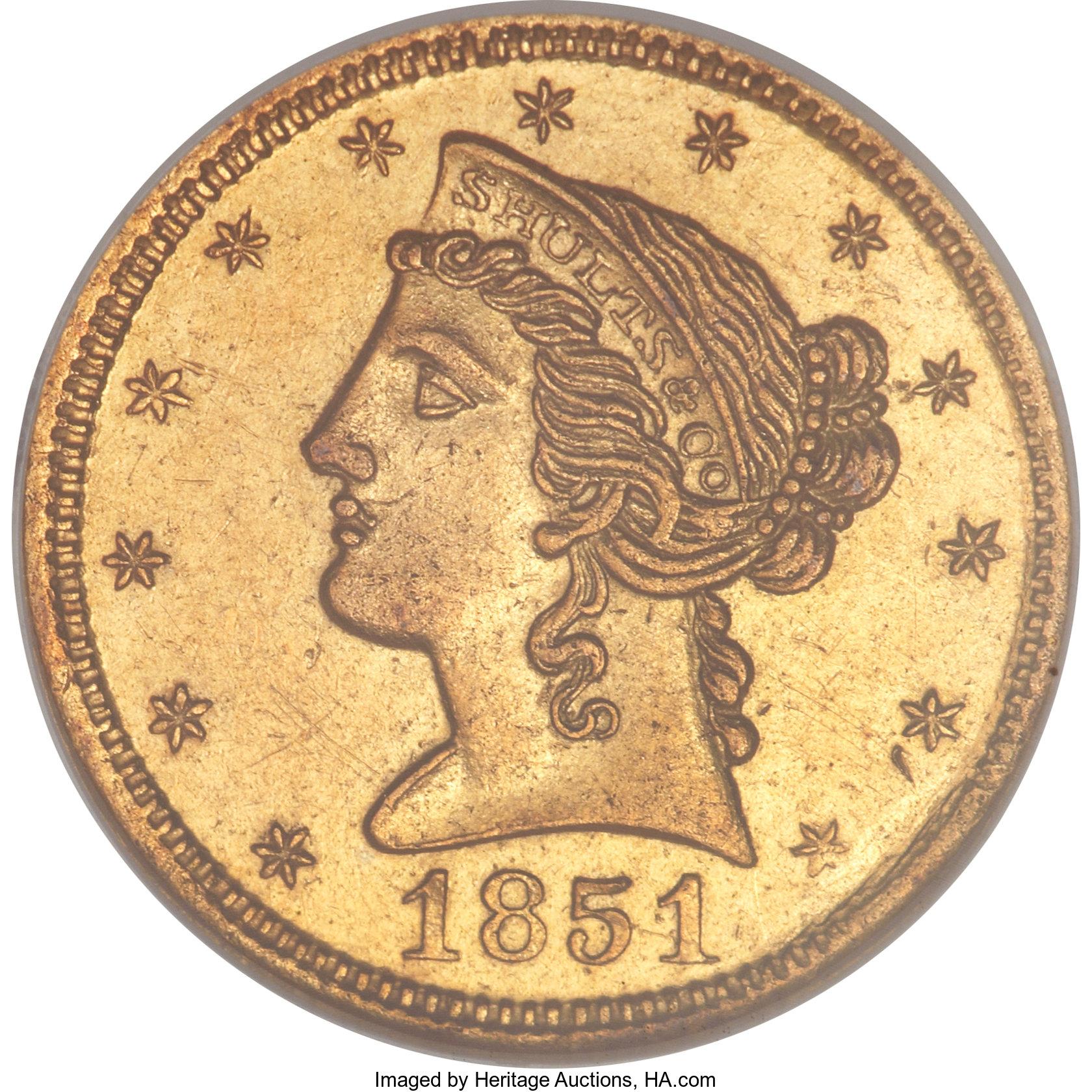 sample image for 1851 $5 Schultz & Co. (K-1)