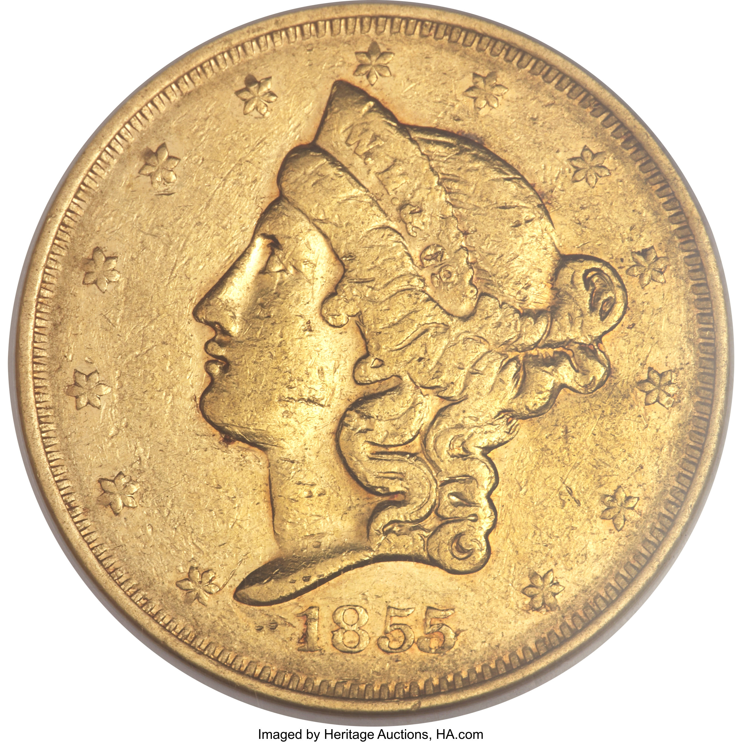 sample image for 1855 $20 Wass Mol Co, Large Head (K-8)