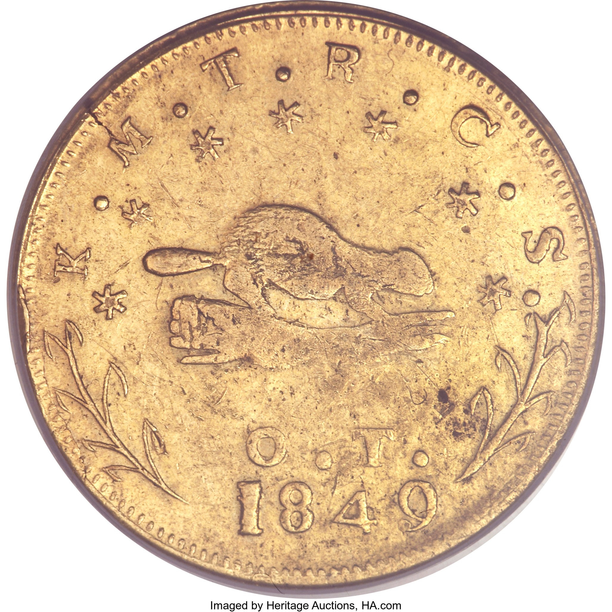 sample image for 1849 $10 Oregon (K-2)