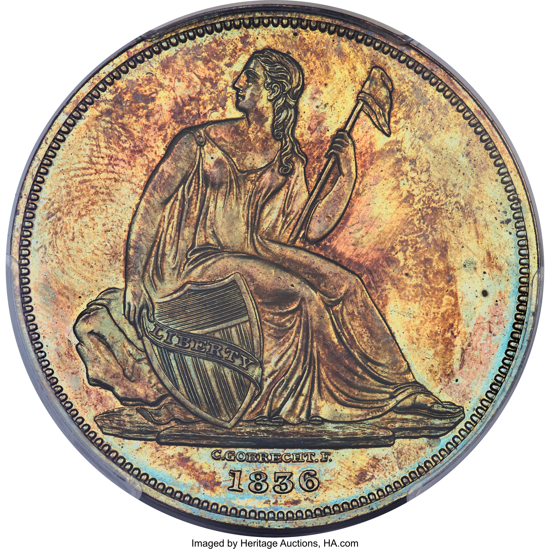 sample image for 1836 J-59, Restrike PS$1 PR RB