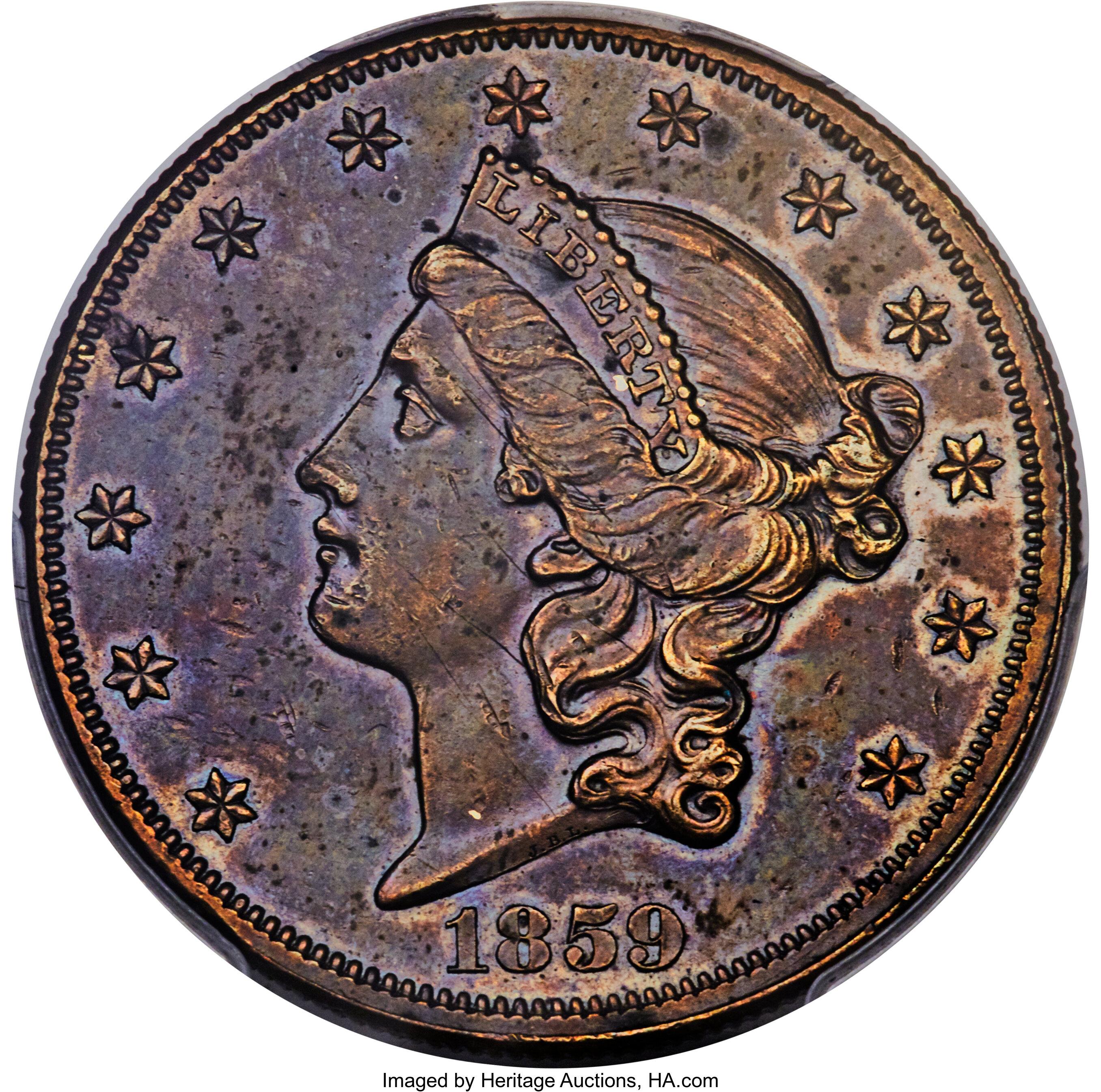 sample image for 1859 J-263 DT$20 PR BN