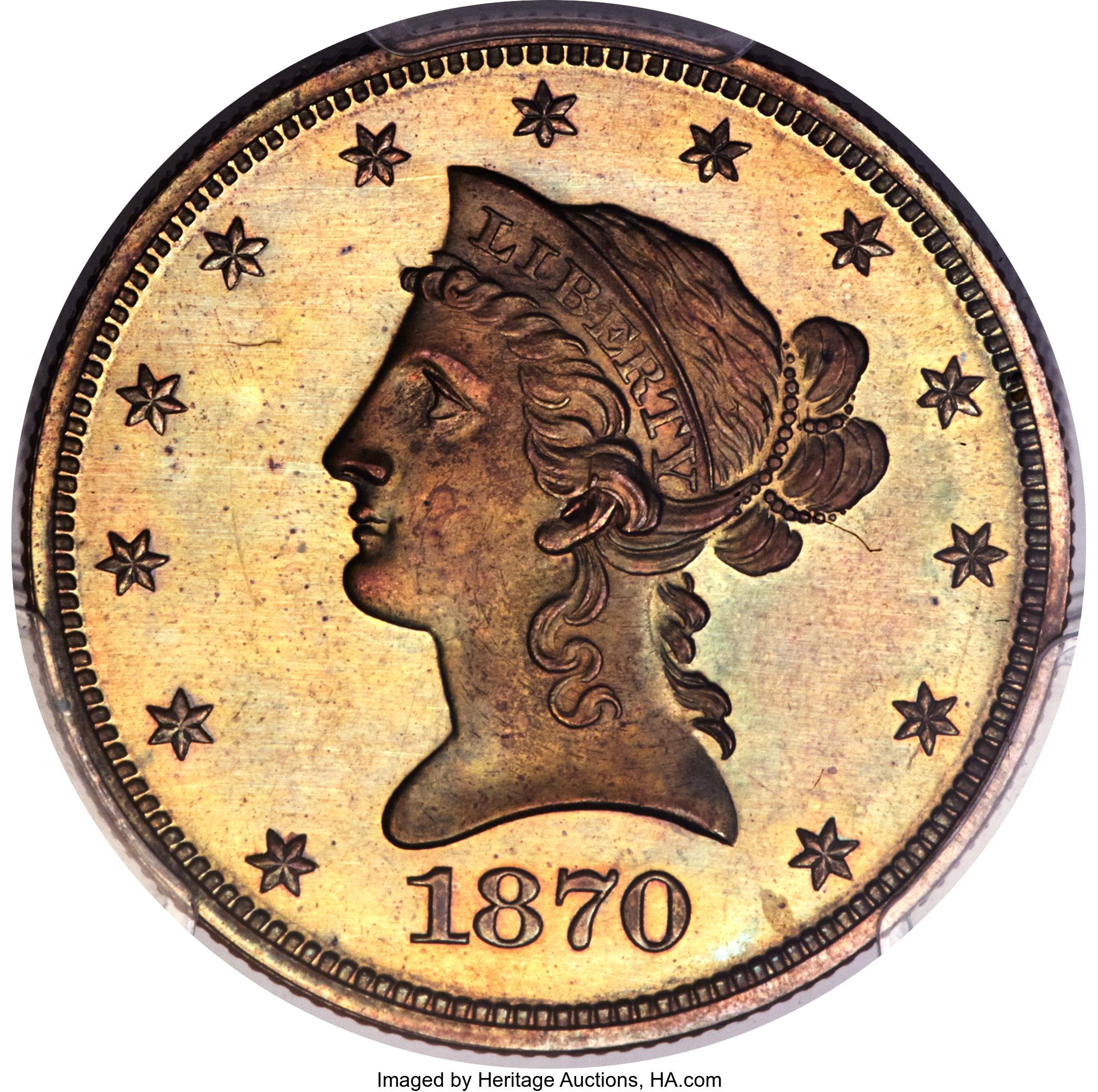 sample image for 1870 P$10 (J-1035) PR BN