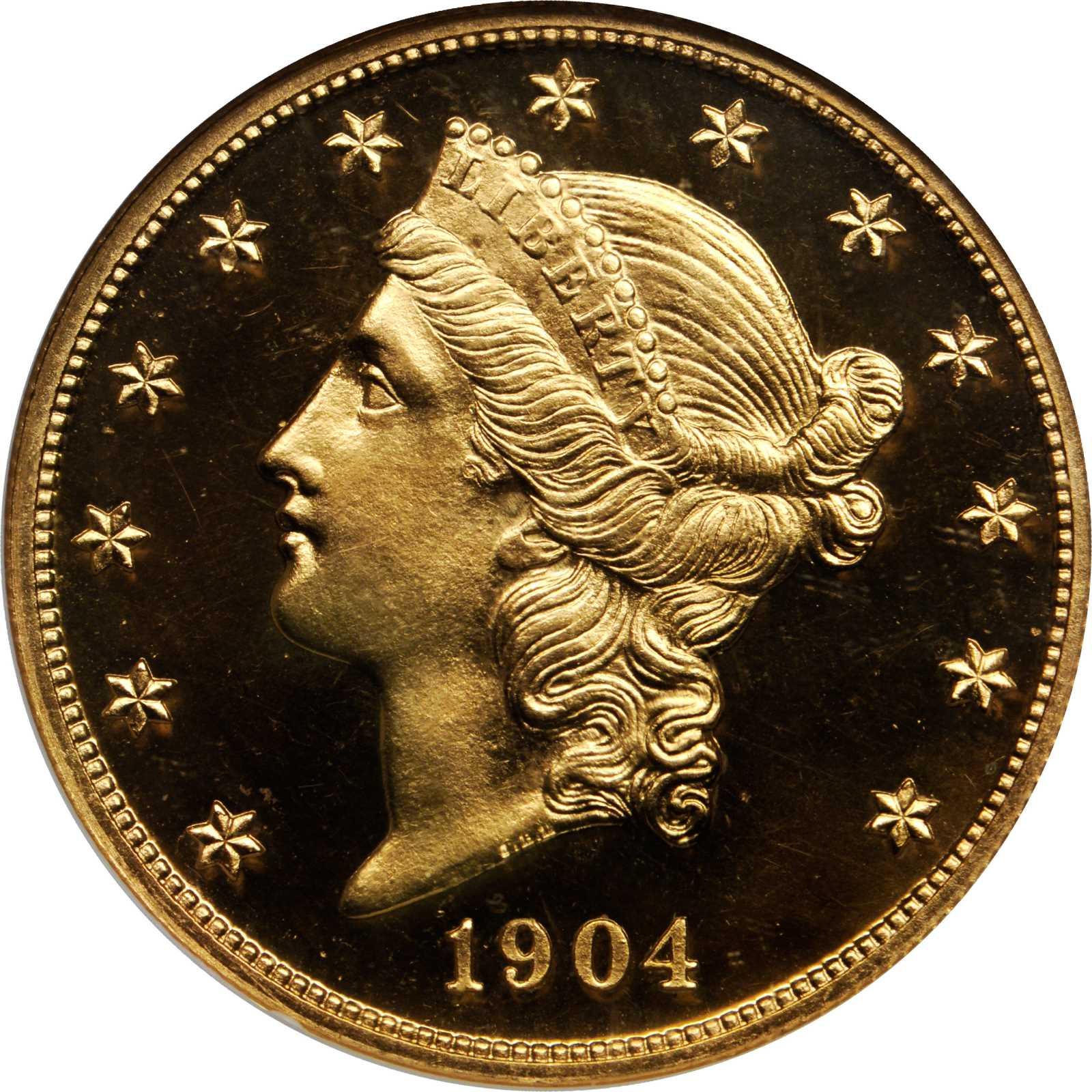 sample image for 1904 $20  PR DCAM