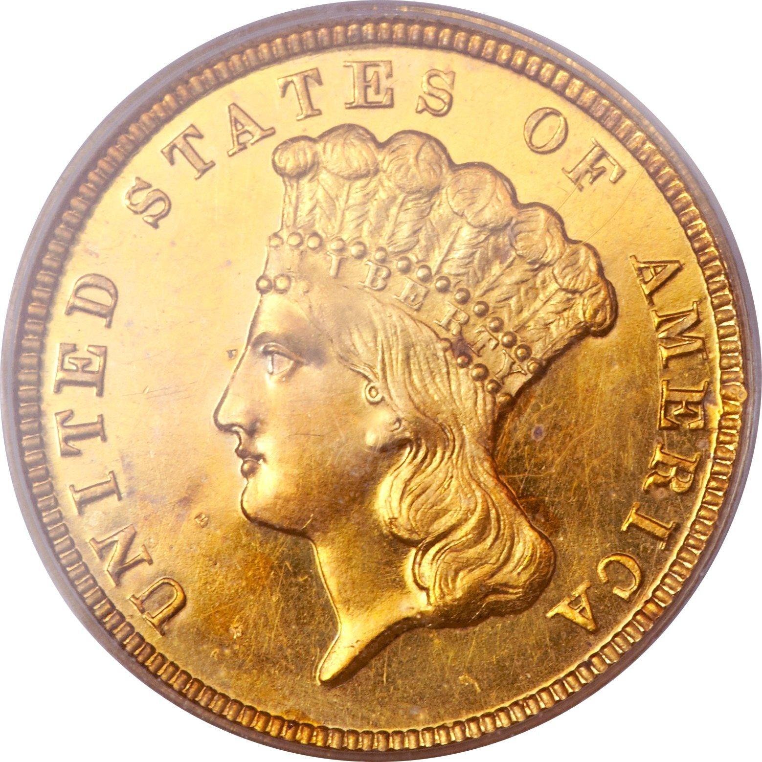 sample image for 1854 $3  PR CAM