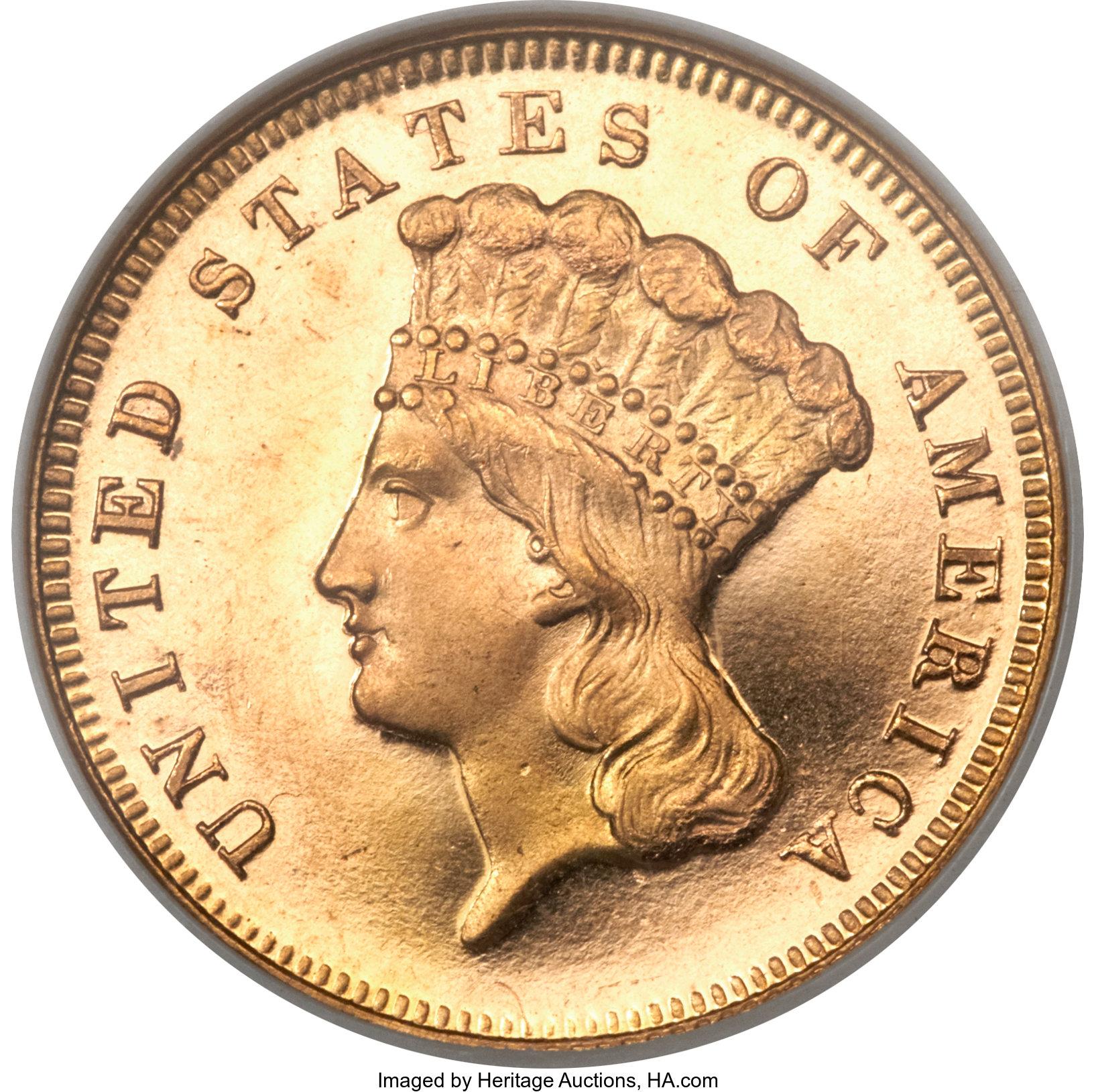 sample image for 1870 $3  PR CAM