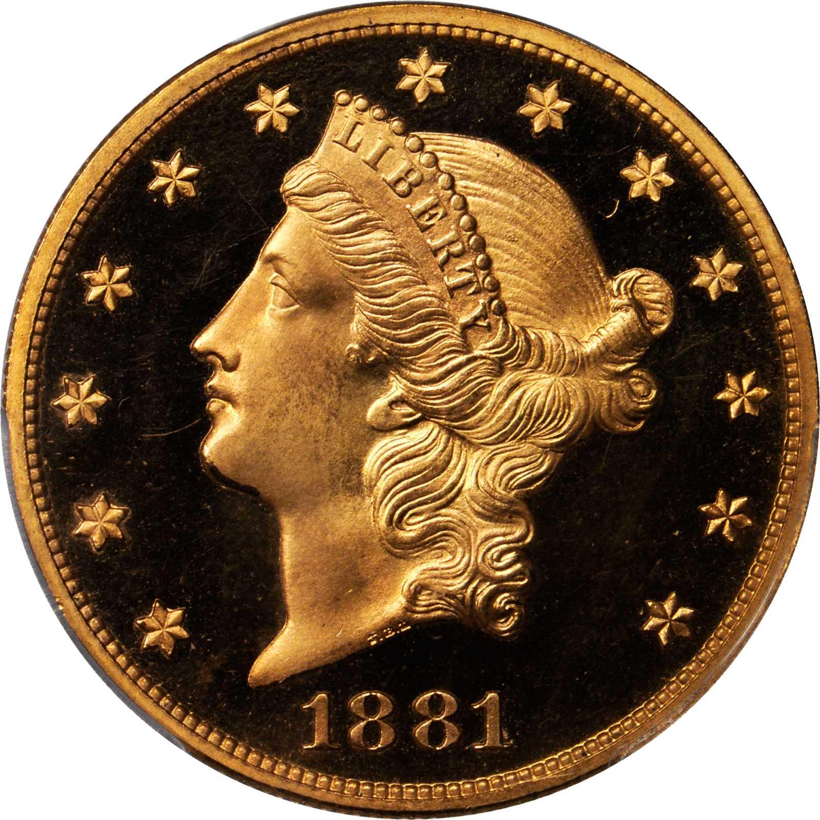 sample image for 1881 $20  PR DCAM