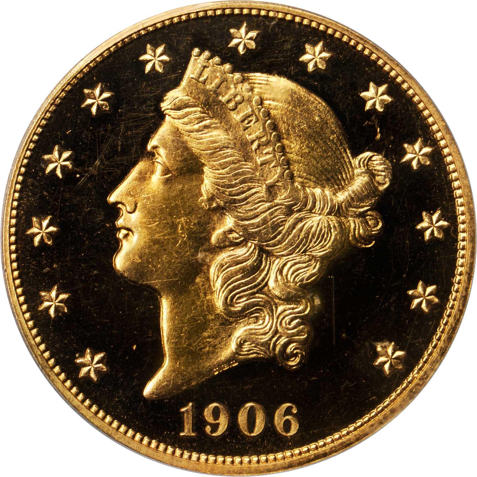 sample image for 1906 $20  PR CAM