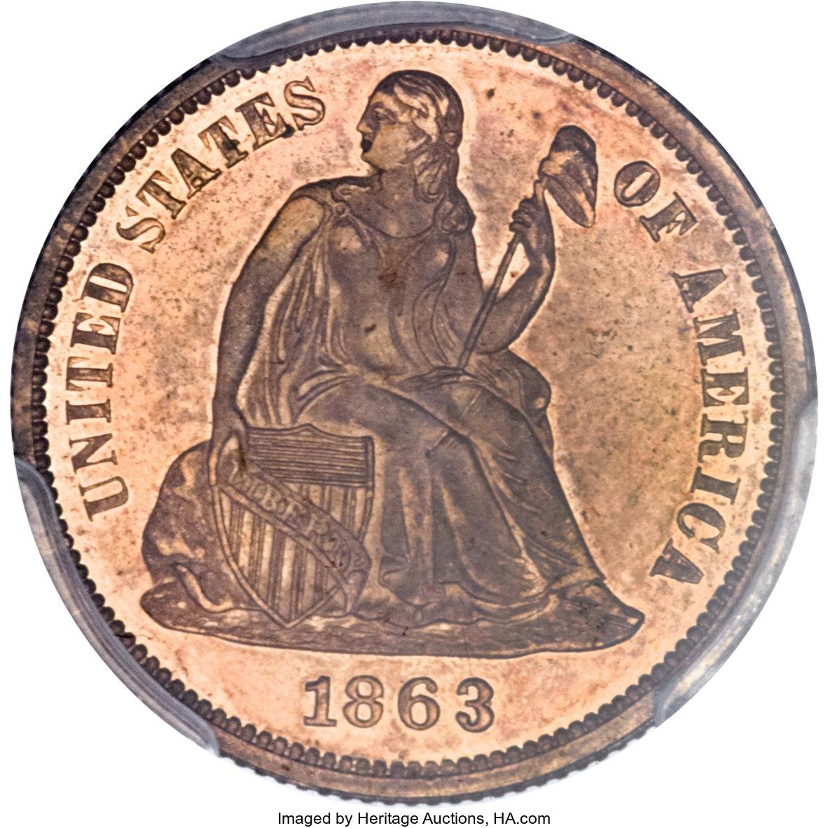 sample image for 1863 J-333 P10c PR RB