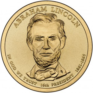 sample image for 2010-P Abraham Lincoln $1  MS Position A
