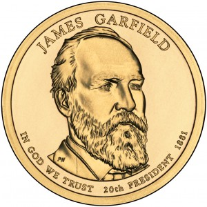 sample image for 2011-P James Garfield $1  MS Position A