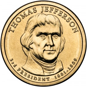 sample image for 2007-P Thomas Jefferson $1  MS Position A