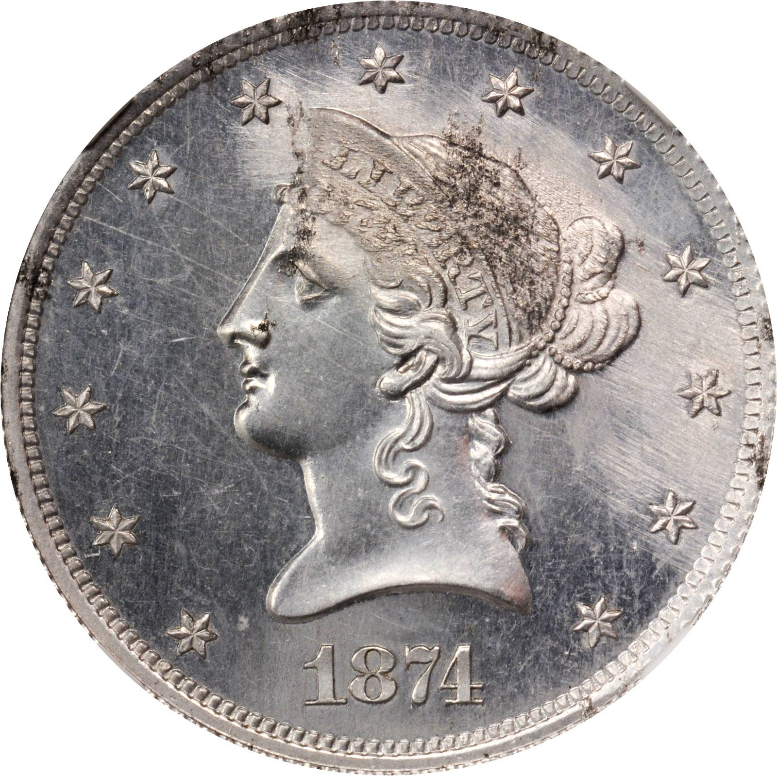sample image for 1874 P$10 (J-1380) PR