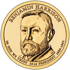 sample image for 2012-P Benjamin Harrison $1  MS Position A