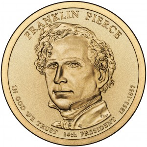 sample image for 2010-P Franklin Pierce $1  MS Position A