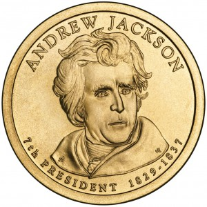 sample image for 2008-P Andrew Jackson $1  MS Position A