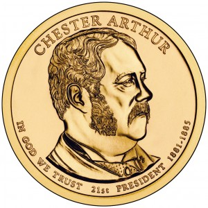 sample image for 2012-P Chester Arthur $1  MS Position A