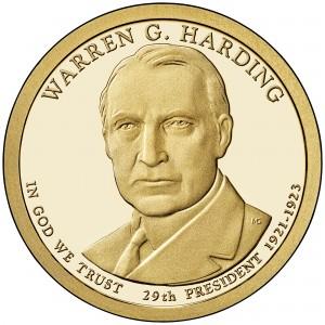 sample image for 2014-S Warren G. Harding $1  PR DCAM