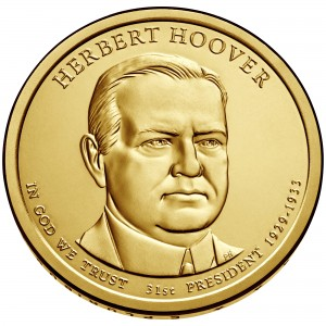 sample image for 2014-P Herbert Hoover $1  MS Position A